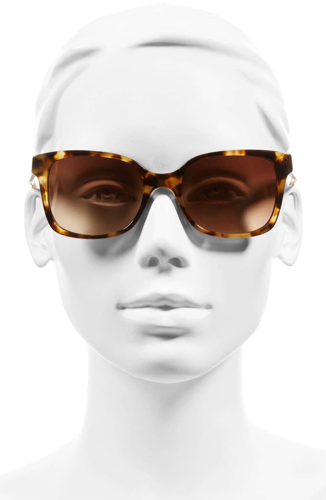 54mm Sunglasses,                             Alternate thumbnail 2, color,                             Light Tortoise