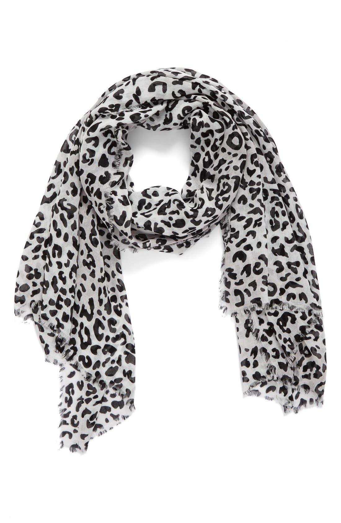 Alternate Image 1 Selected - Nordstrom Leopard Print Wrap