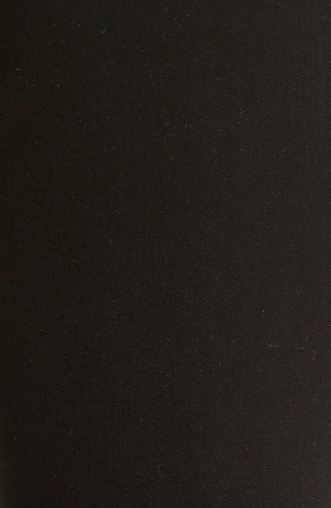 Alternate Image 5  - SP Black Slit Knee Skinny Jeans
