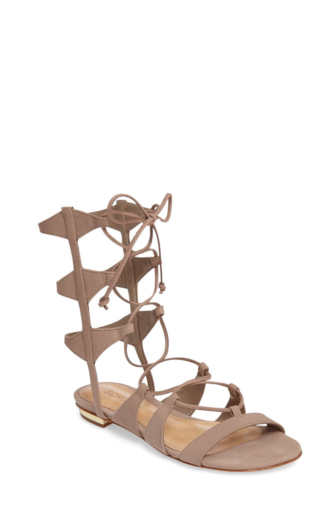 Alternate Image 1 Selected - Schutz Erlina Lace-Up Sandal (Women)