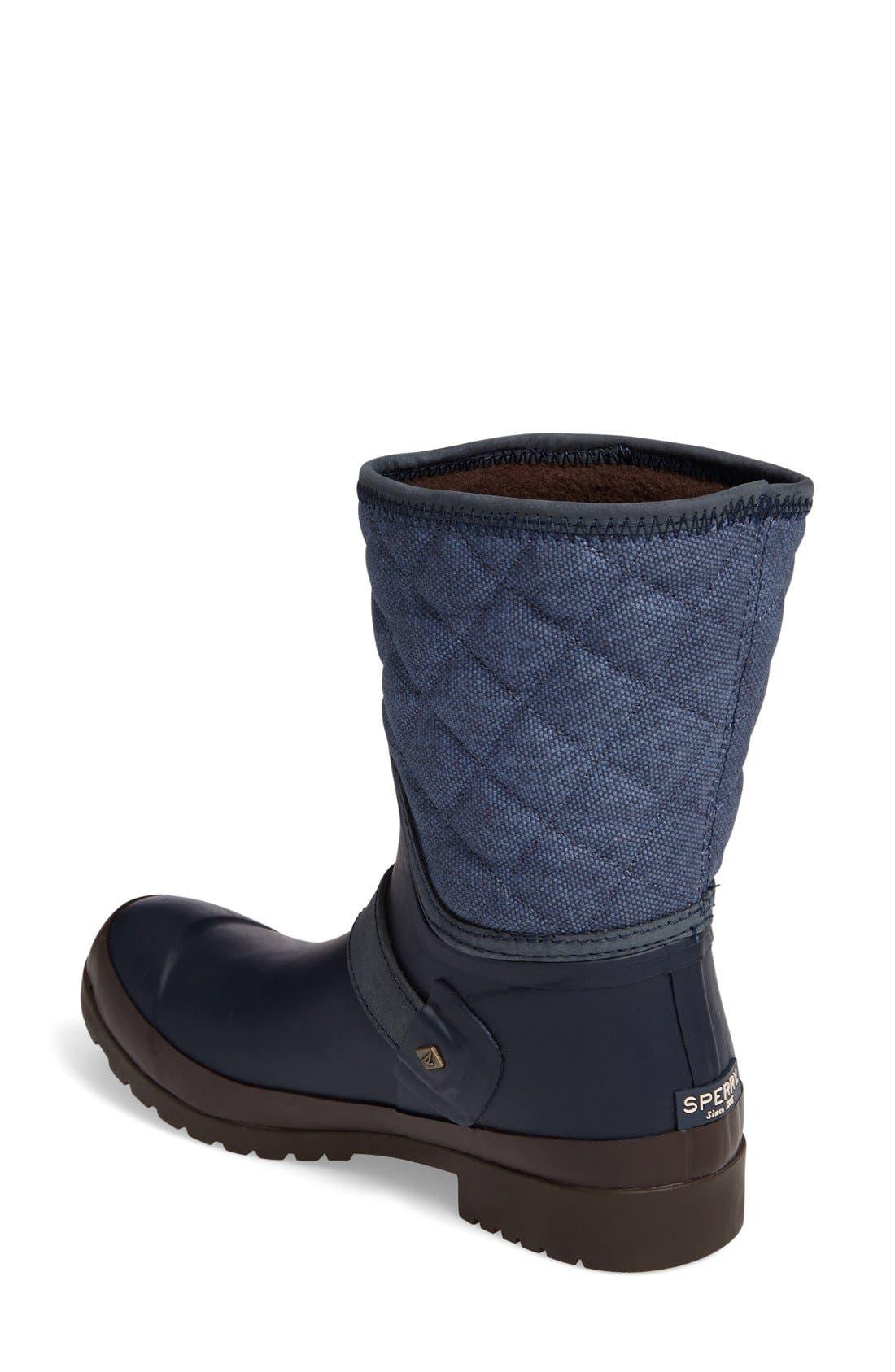 Alternate Image 2  - Sperry Walker Gray Canvas Quilt Boot (Women)