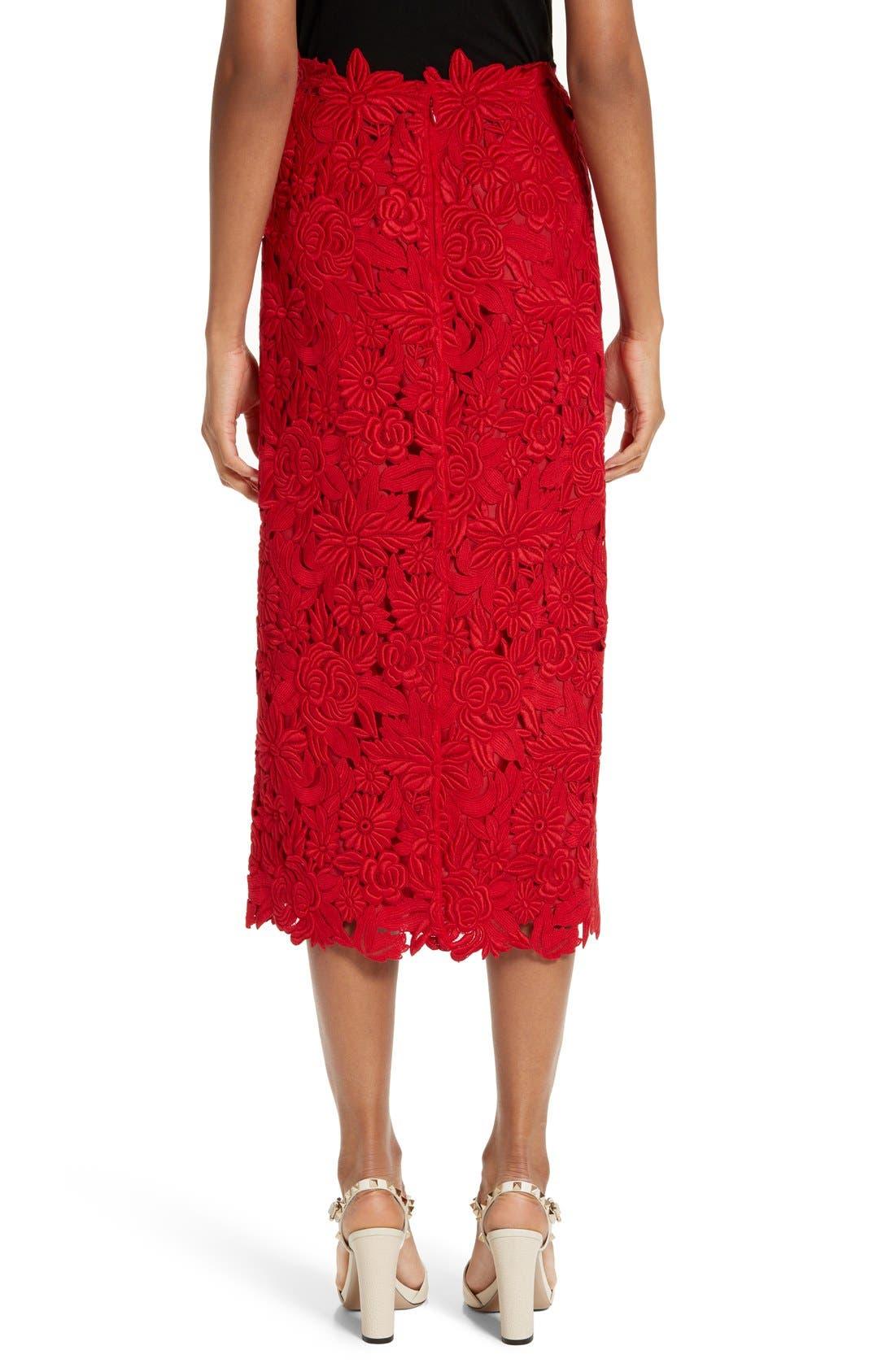 Alternate Image 2  - Valentino Guipure Lace Midi Skirt