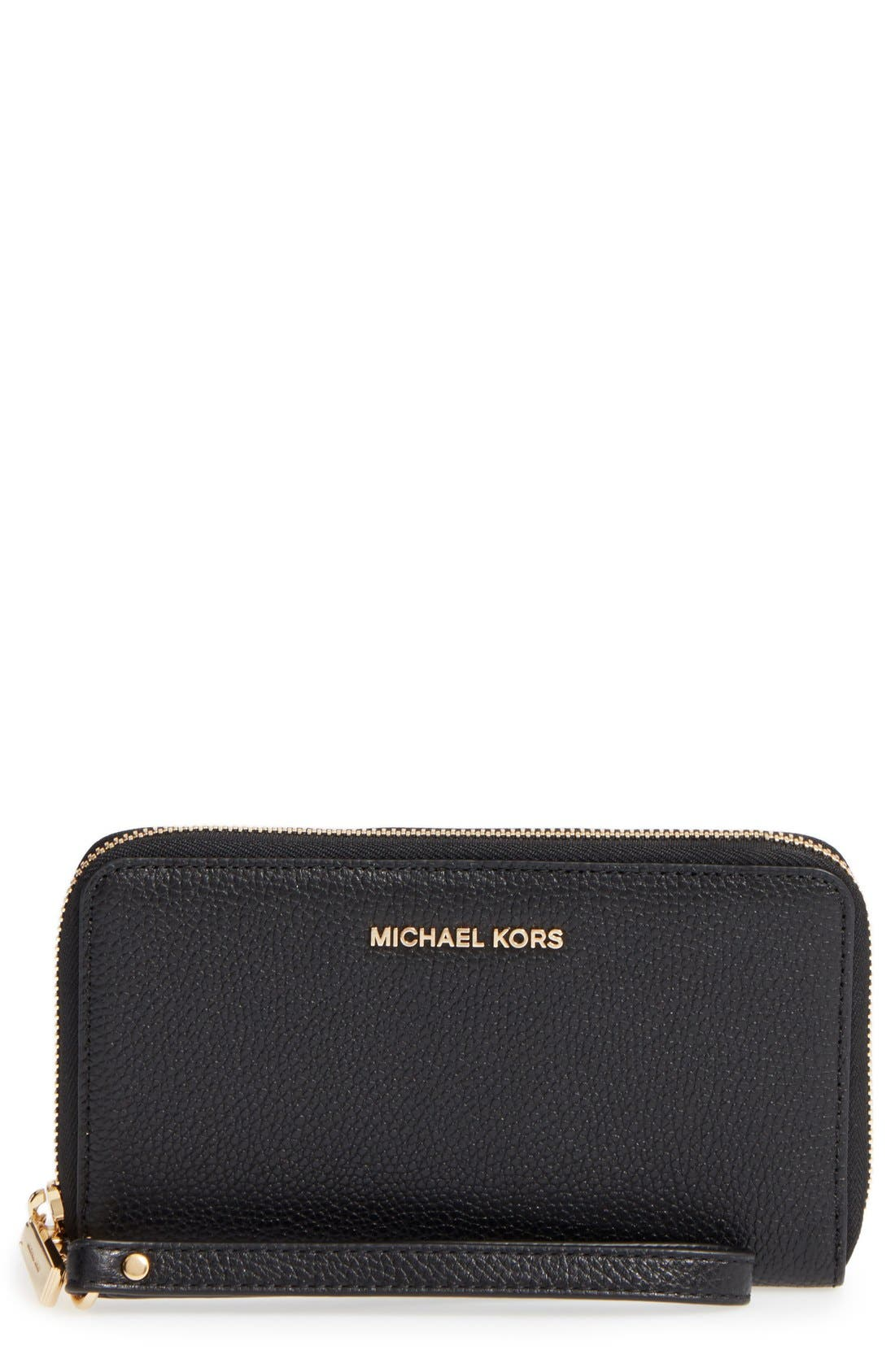 Main Image - MICHAEL Michael Kors Mercer Large Leather Tech Wristlet