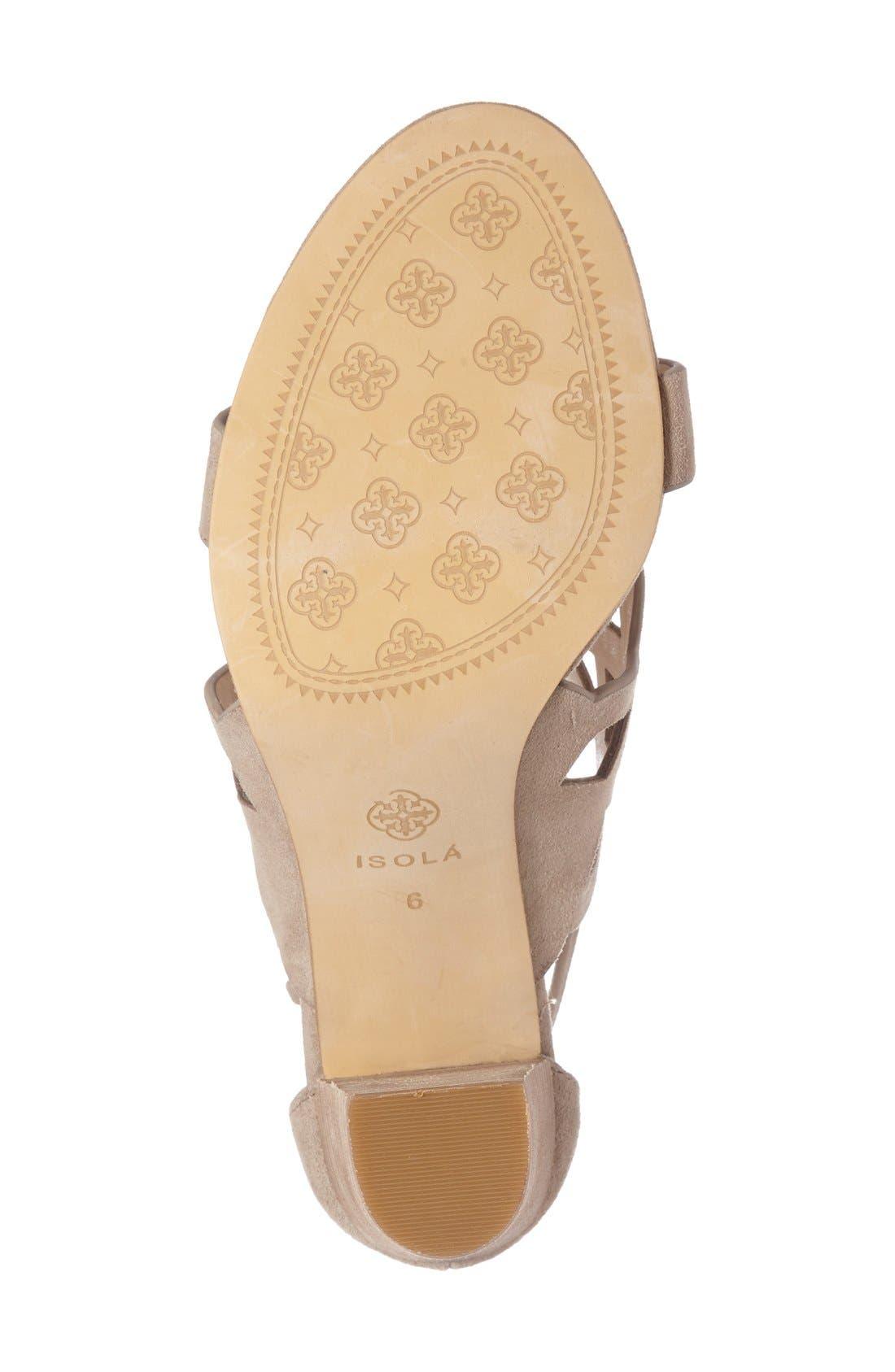 Alternate Image 4  - Isolá Despina Cutout Ankle Strap Sandal (Women)