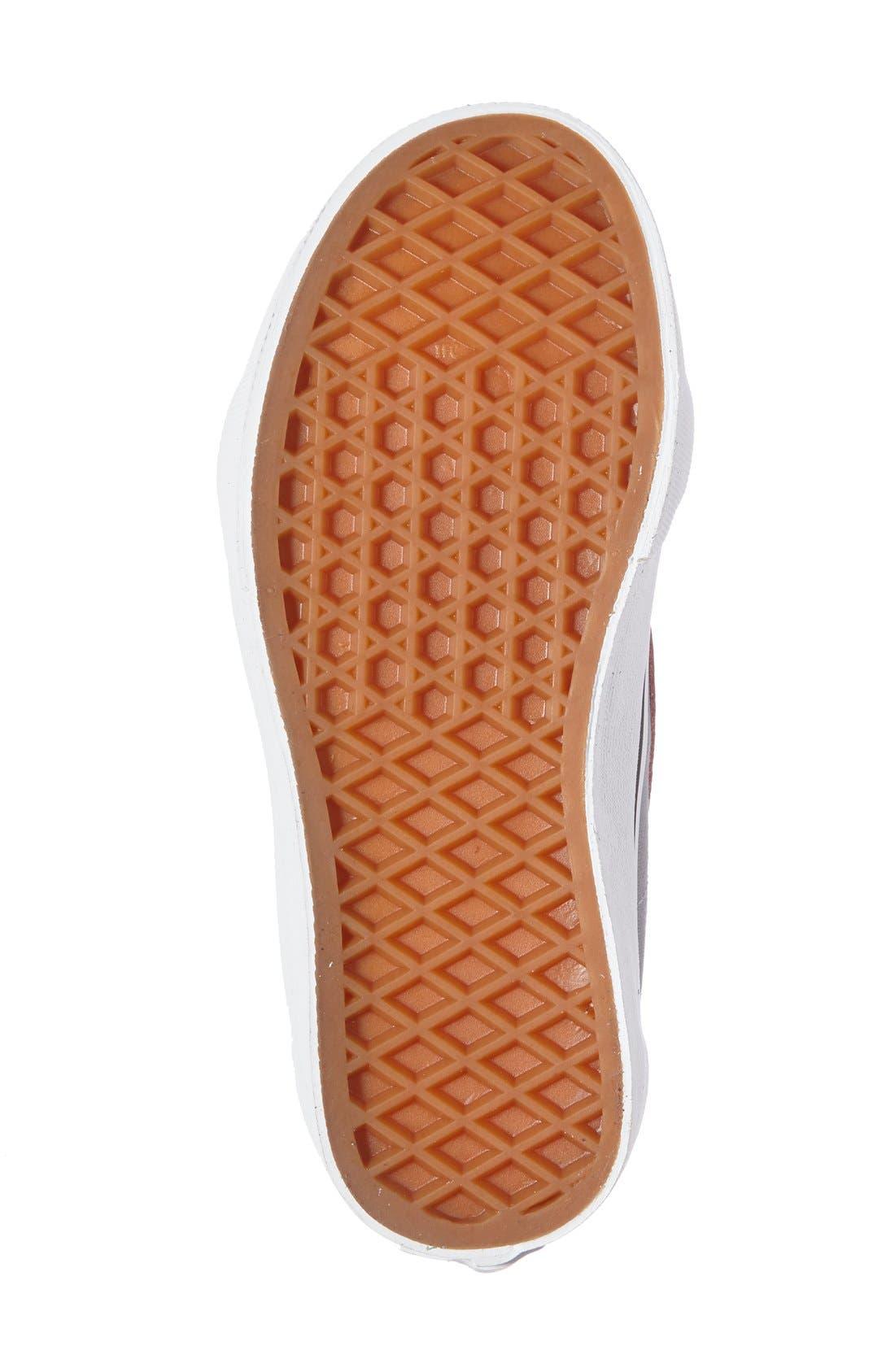 SK8-Hi Zip Pop Sneaker,                             Alternate thumbnail 4, color,                             Parisian Night/ Racing Red