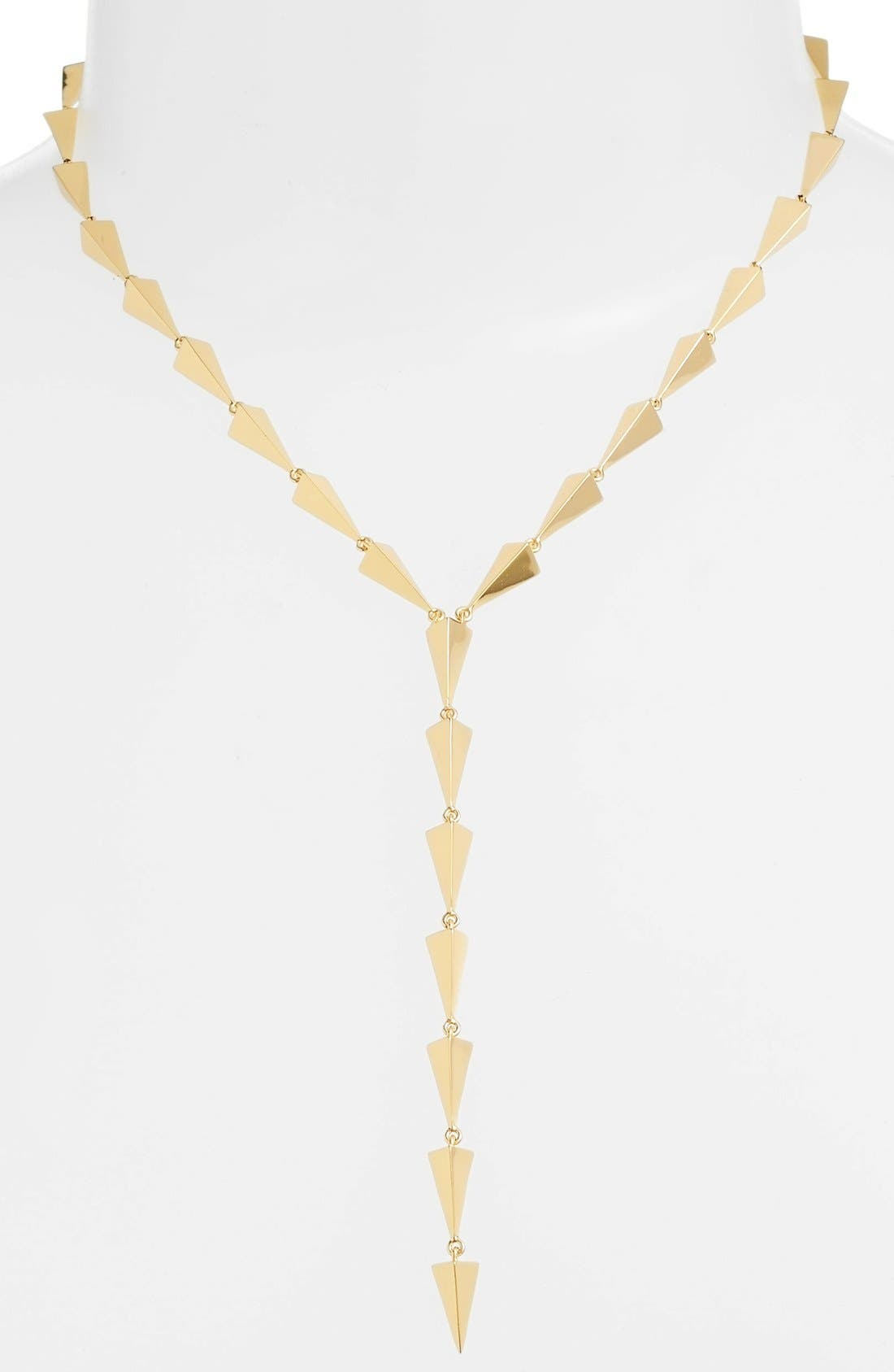 Buffy Lariat Necklace,                             Main thumbnail 1, color,                             Gold