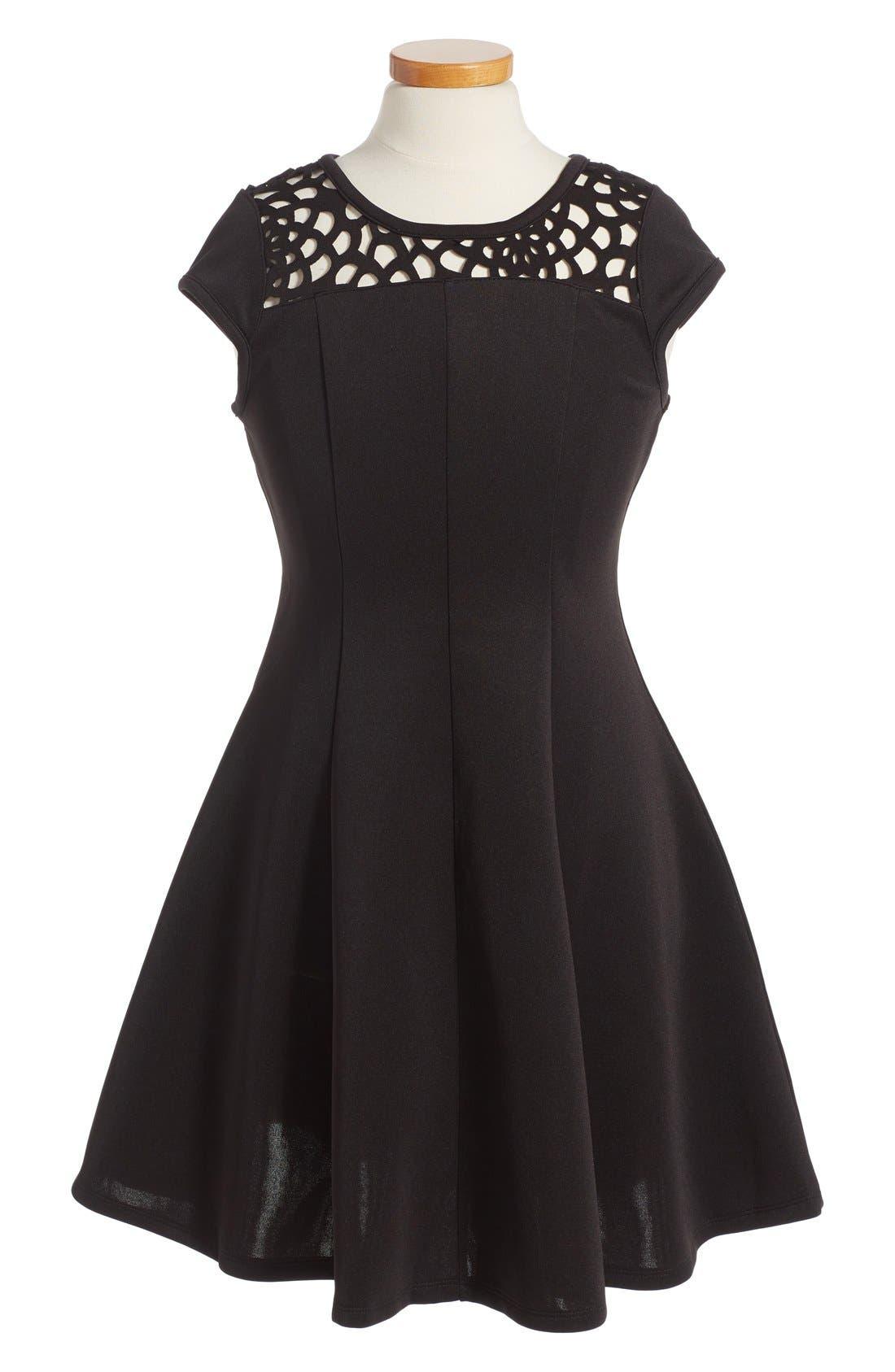 Alternate Image 1 Selected - Ten Sixty Sherman Cap Sleeve Dress (Big Girls)