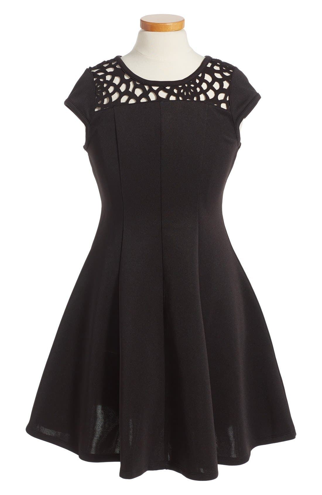 Main Image - Ten Sixty Sherman Cap Sleeve Dress (Big Girls)