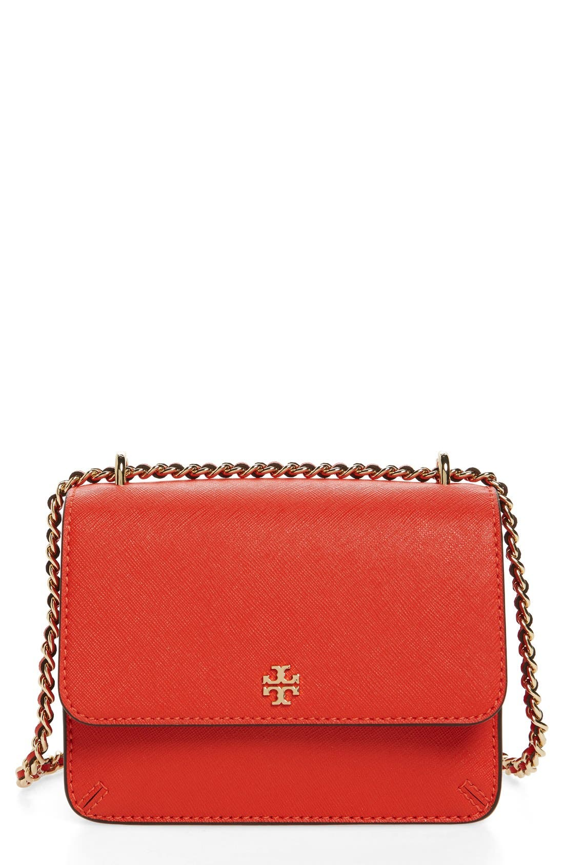 Main Image - Tory Burch Mini Robinson Convertible Leather Shoulder Bag