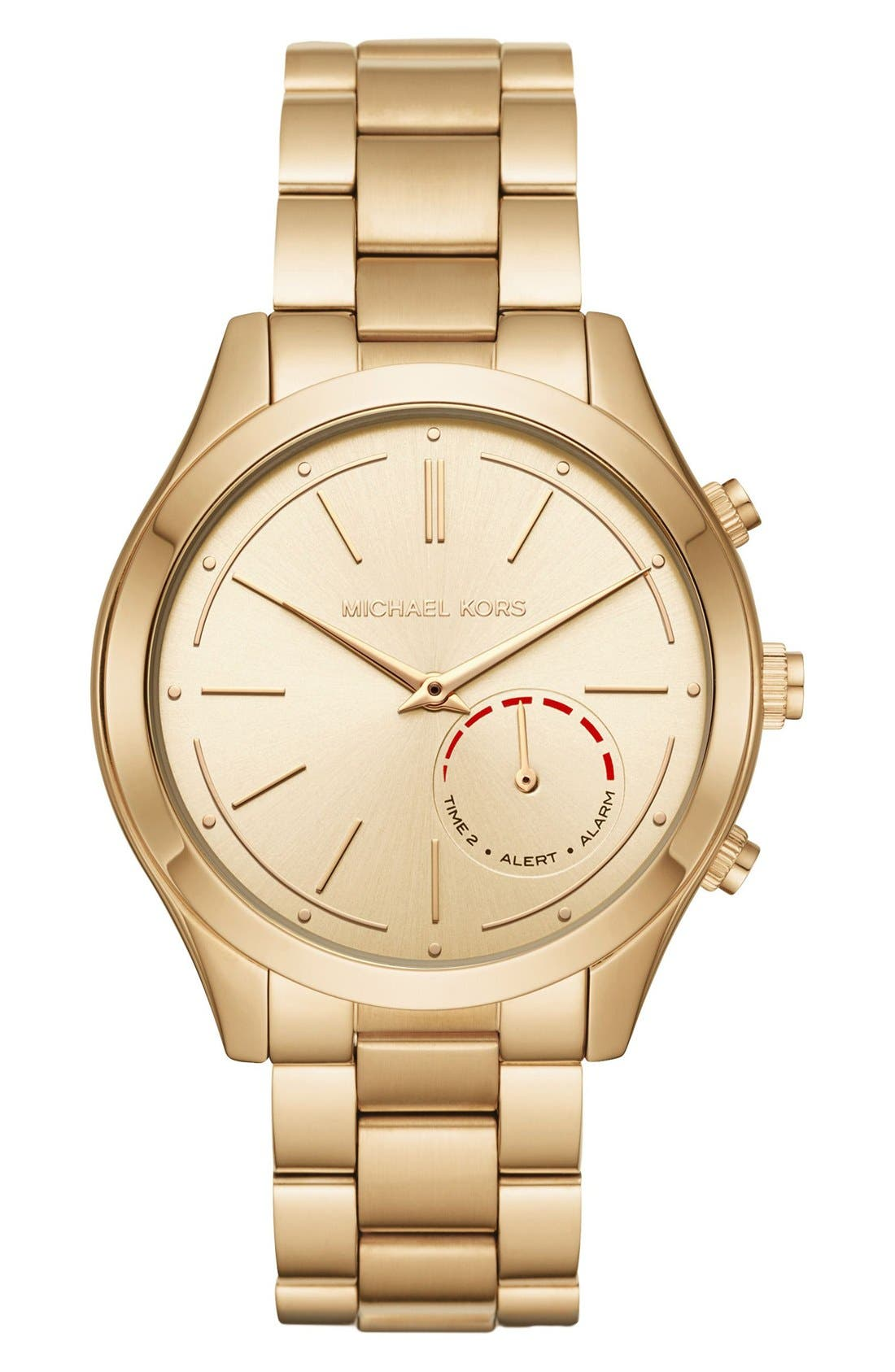MICHAEL Michael Kors Slim Runway Smart Watch, 42mm,                             Main thumbnail 1, color,                             Gold