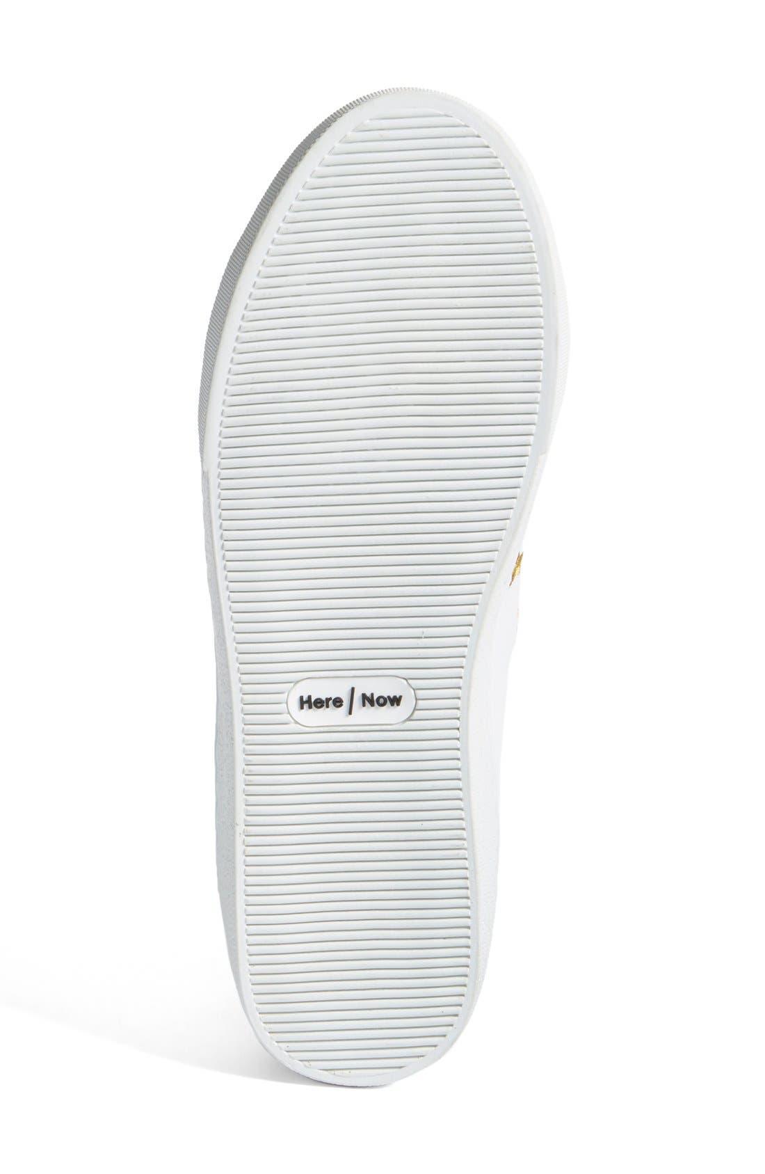 Halley Slip-On Sneaker,                             Alternate thumbnail 4, color,                             White Leather