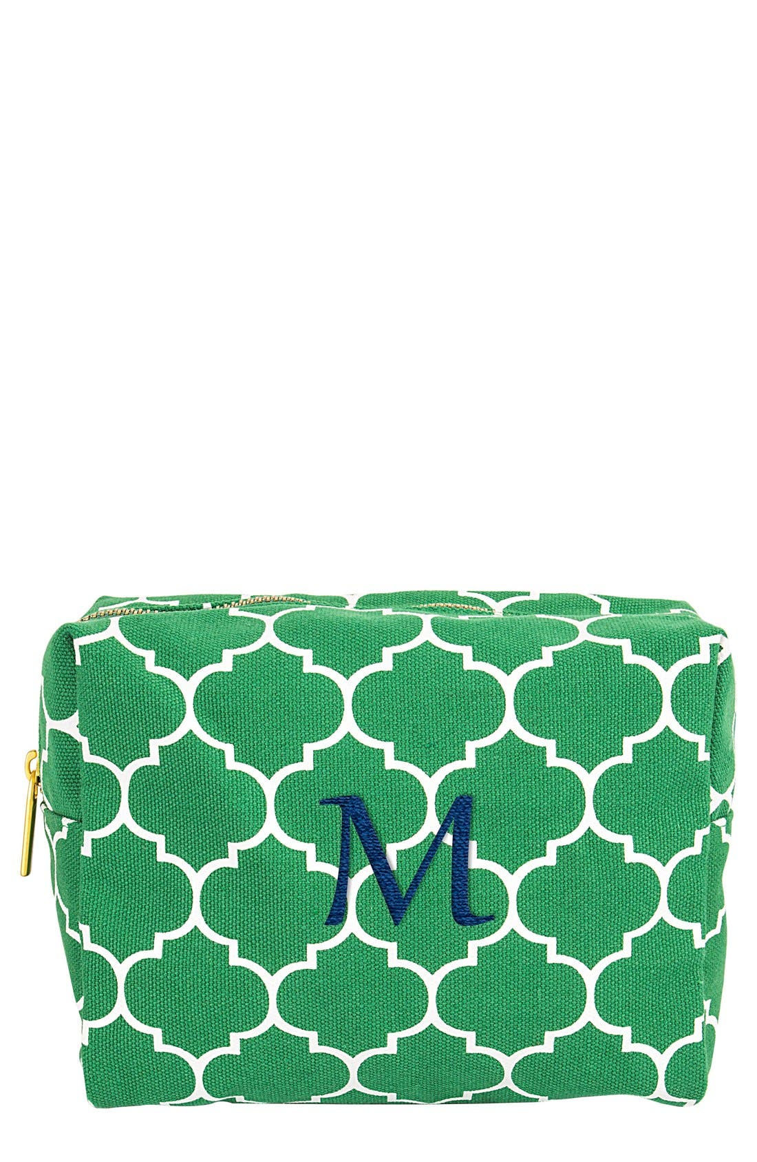 Monogram Cosmetics Bag,                             Main thumbnail 1, color,                             Green-M
