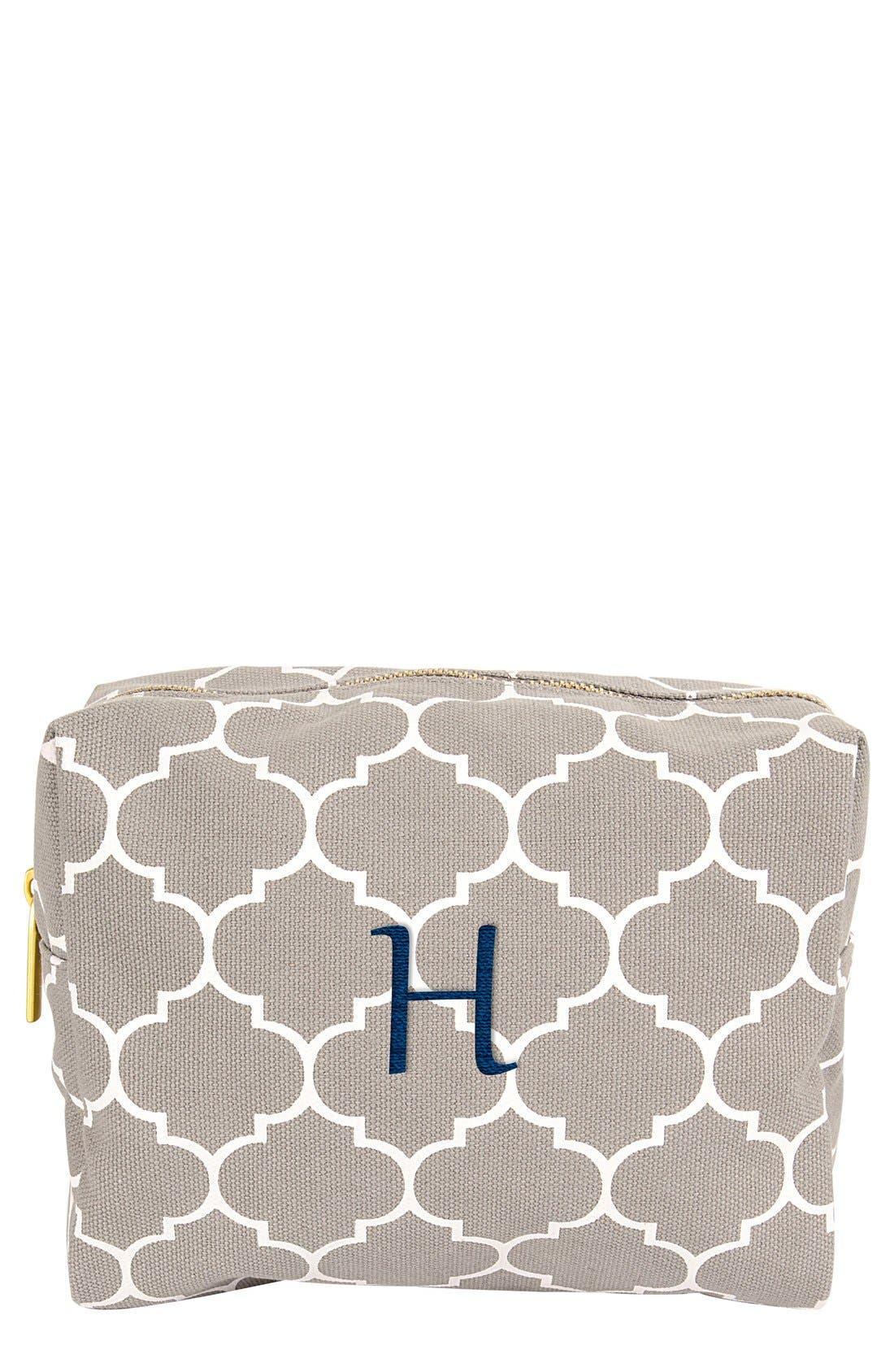 Main Image - Cathy's Concepts Monogram Cosmetics Bag