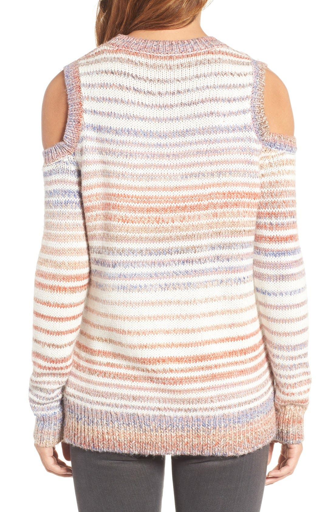 Alternate Image 2  - Rebecca Minkoff Page Stripe Cold Shoulder Sweater