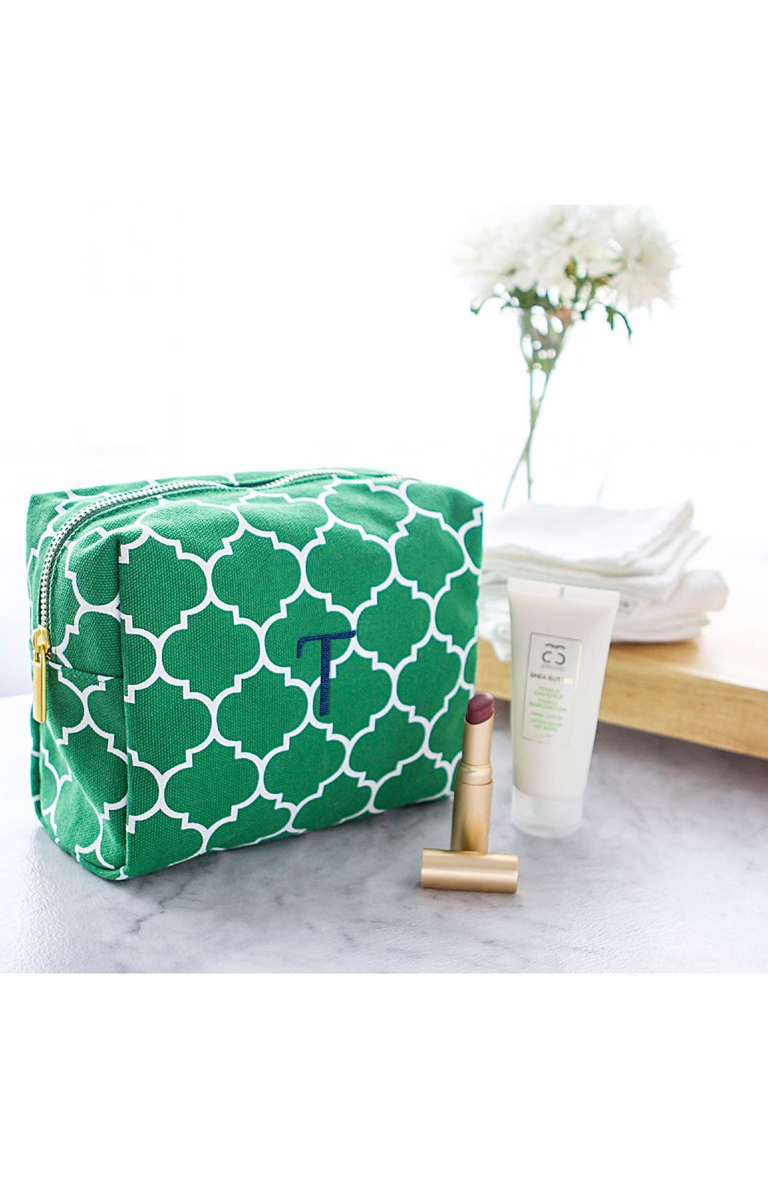 Monogram Cosmetics Bag,                             Alternate thumbnail 3, color,