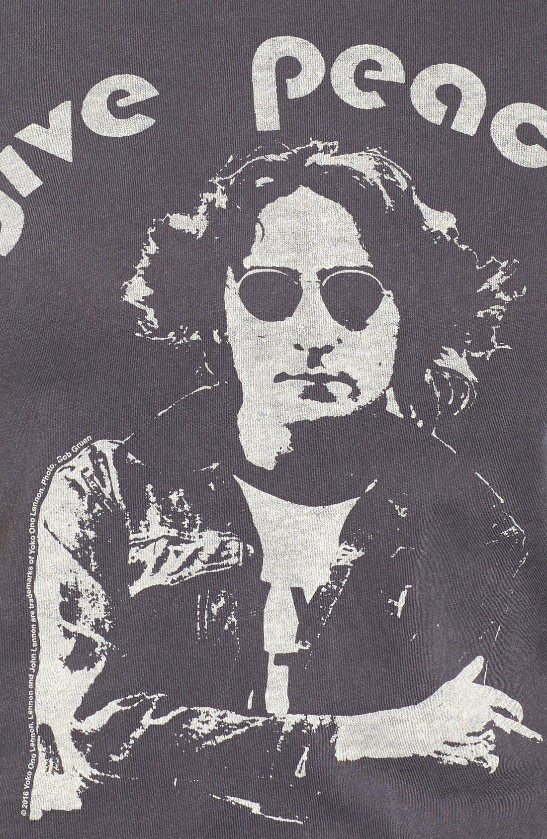 John Lennon Tee,                             Alternate thumbnail 5, color,                             Jet Black