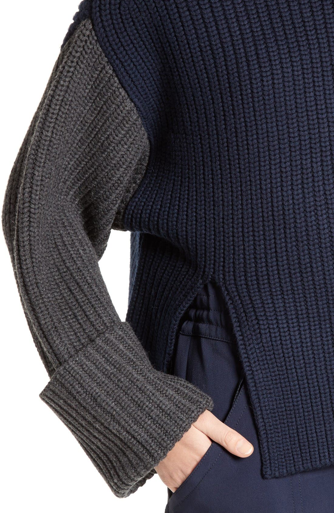 Alternate Image 5  - Victor Alfaro Colorblock Merino Wool Turtleneck Sweater