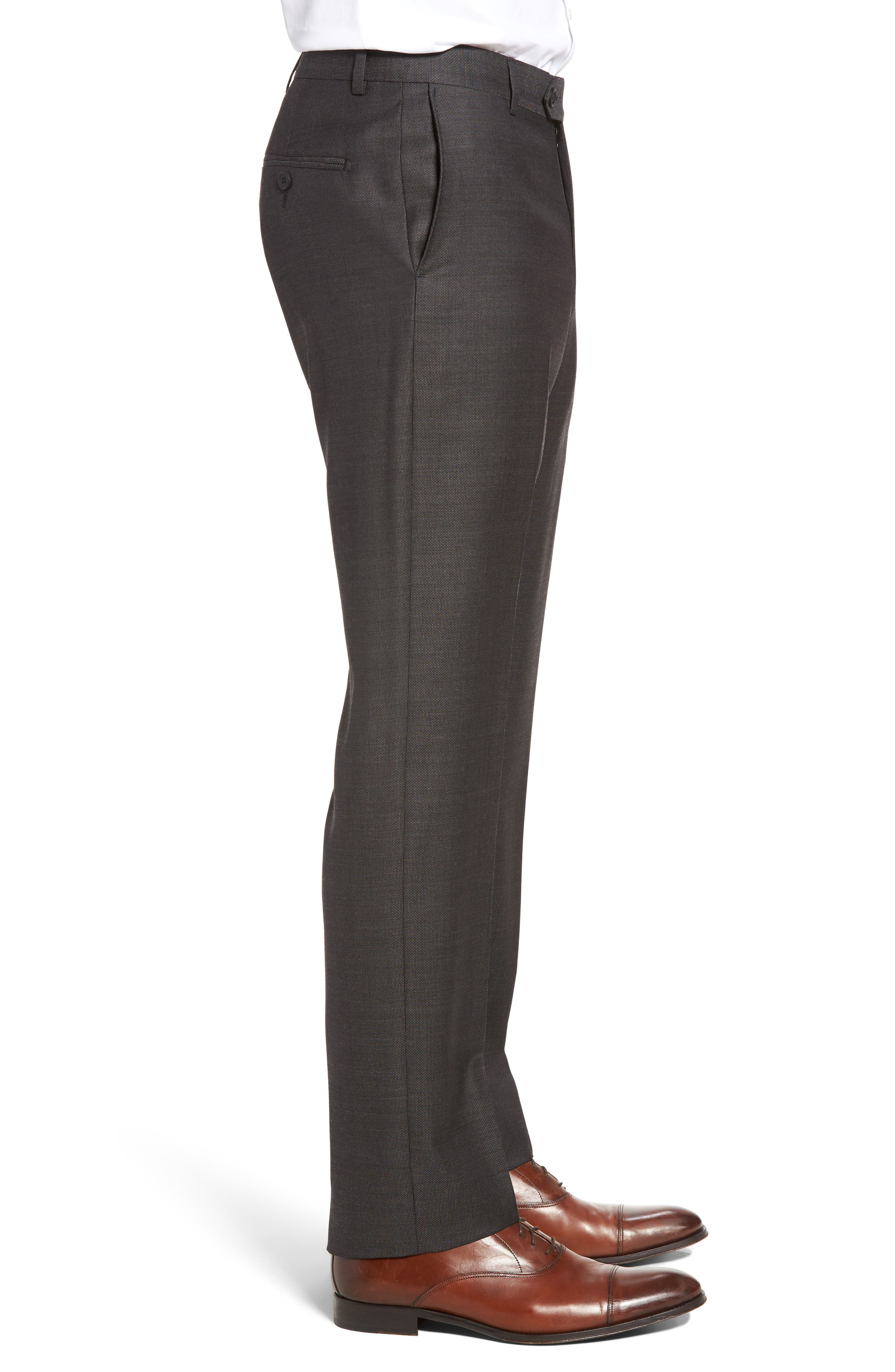 Alternate Image 3  - John W. Nordstrom® Flat Front Solid Wool Trousers