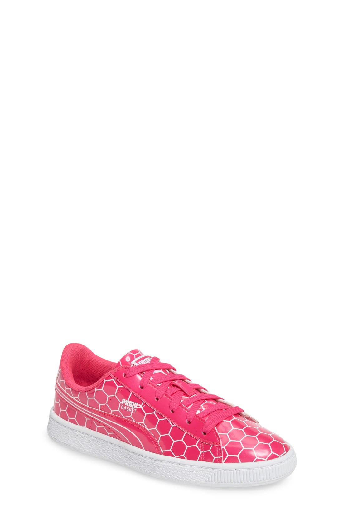 Basket Classic Ano Sneaker,                         Main,                         color, Pink Glo-Puma White