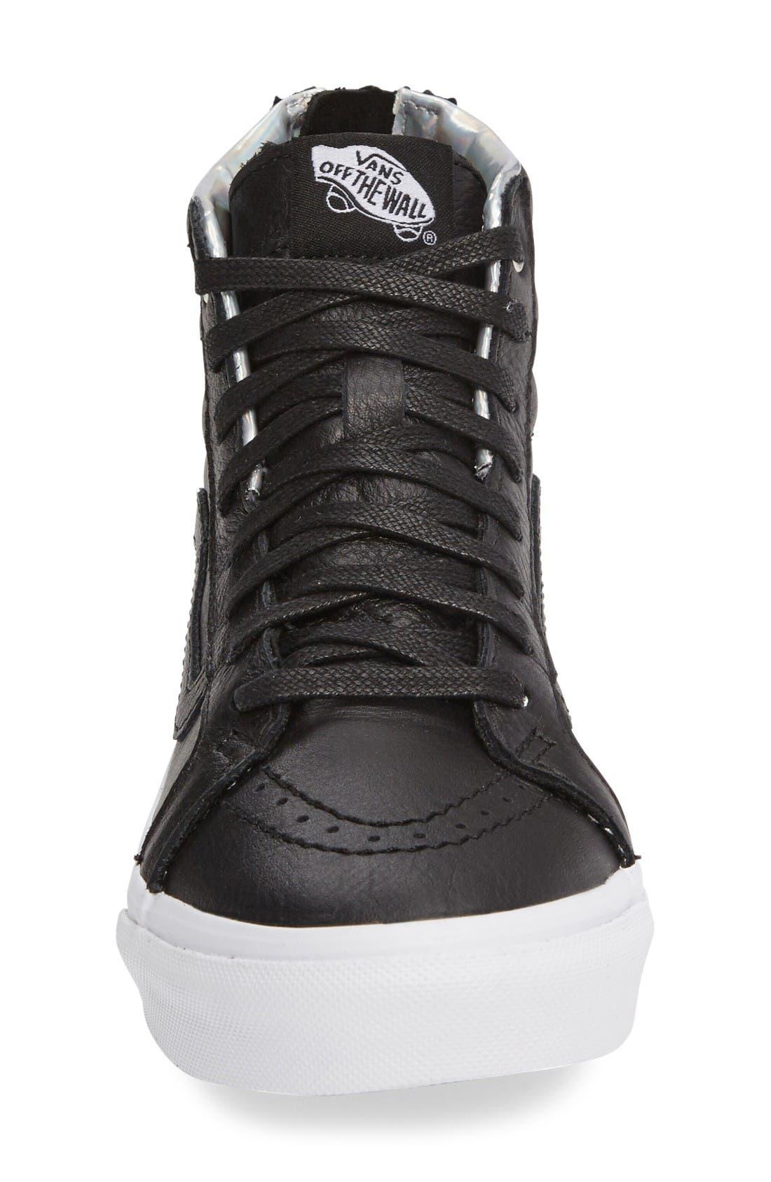 Alternate Image 3  - Vans 'Sk8-Hi Slim' Metallic Leather Sneaker (Women)