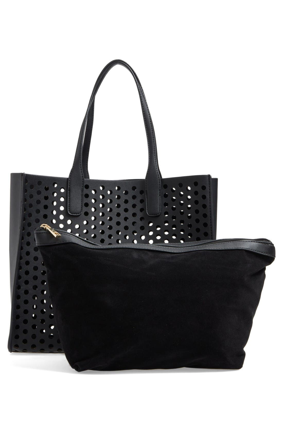 Alternate Image 3  - Emperia Romy Perforated Faux Leather Tote & Pouch (Special Purchase)