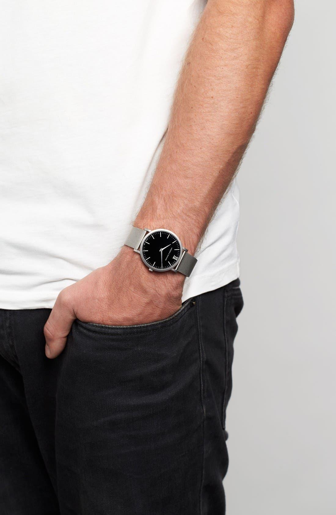 Alternate Image 7  - Larsson & Jennings Lugano Mesh Strap Watch, 40mm