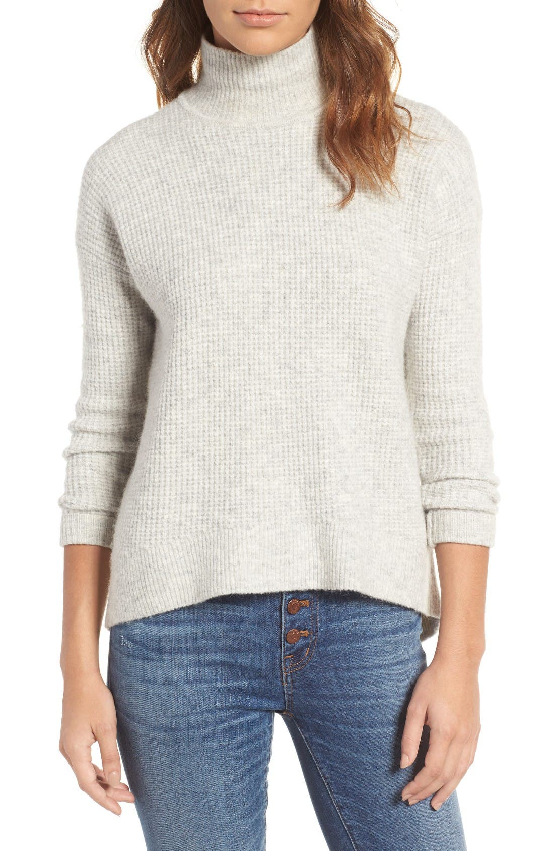 Alternate Image 1 Selected - Madewell Wafflestitch Turtleneck Sweater