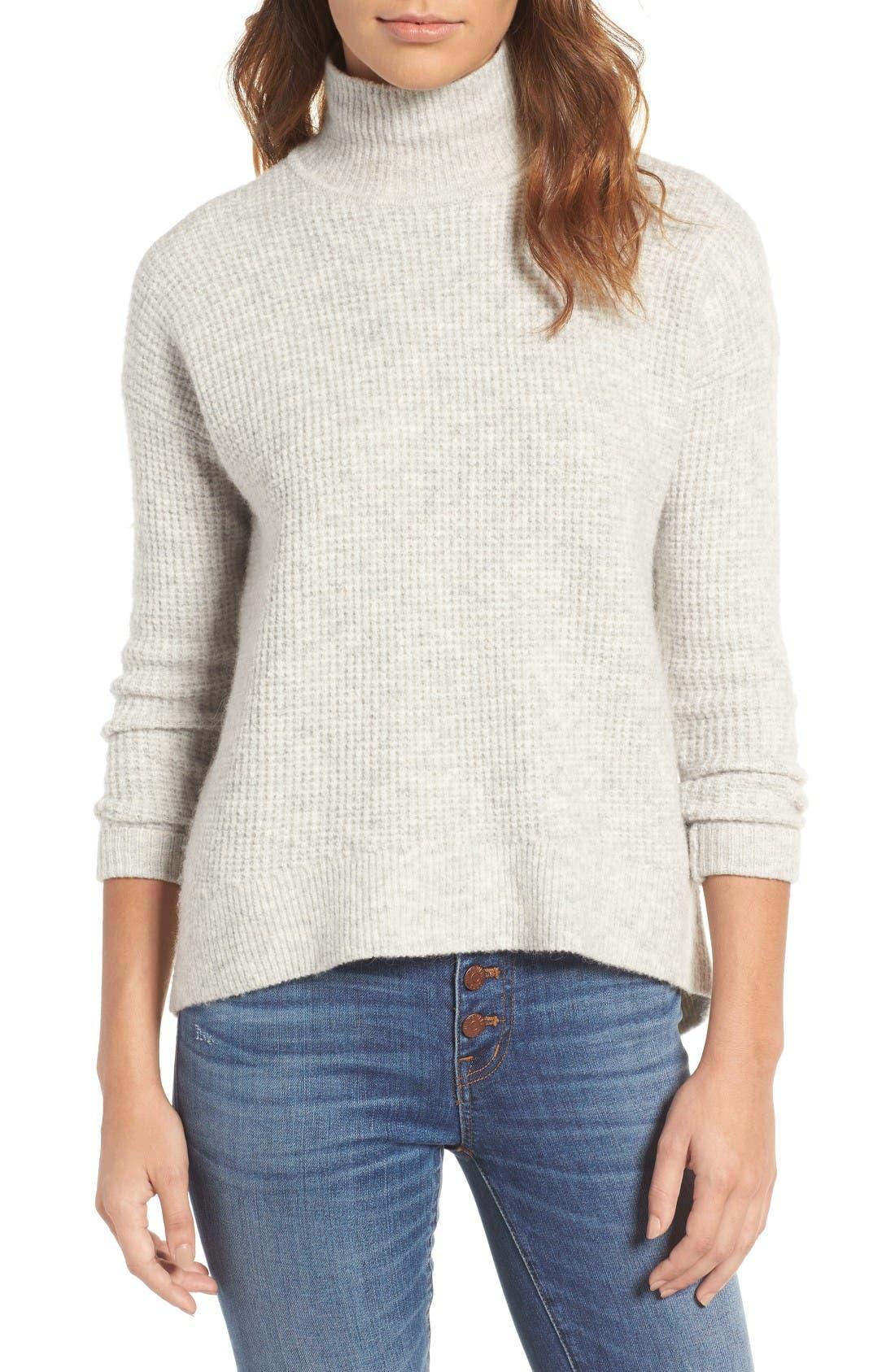 Main Image - Madewell Wafflestitch Turtleneck Sweater