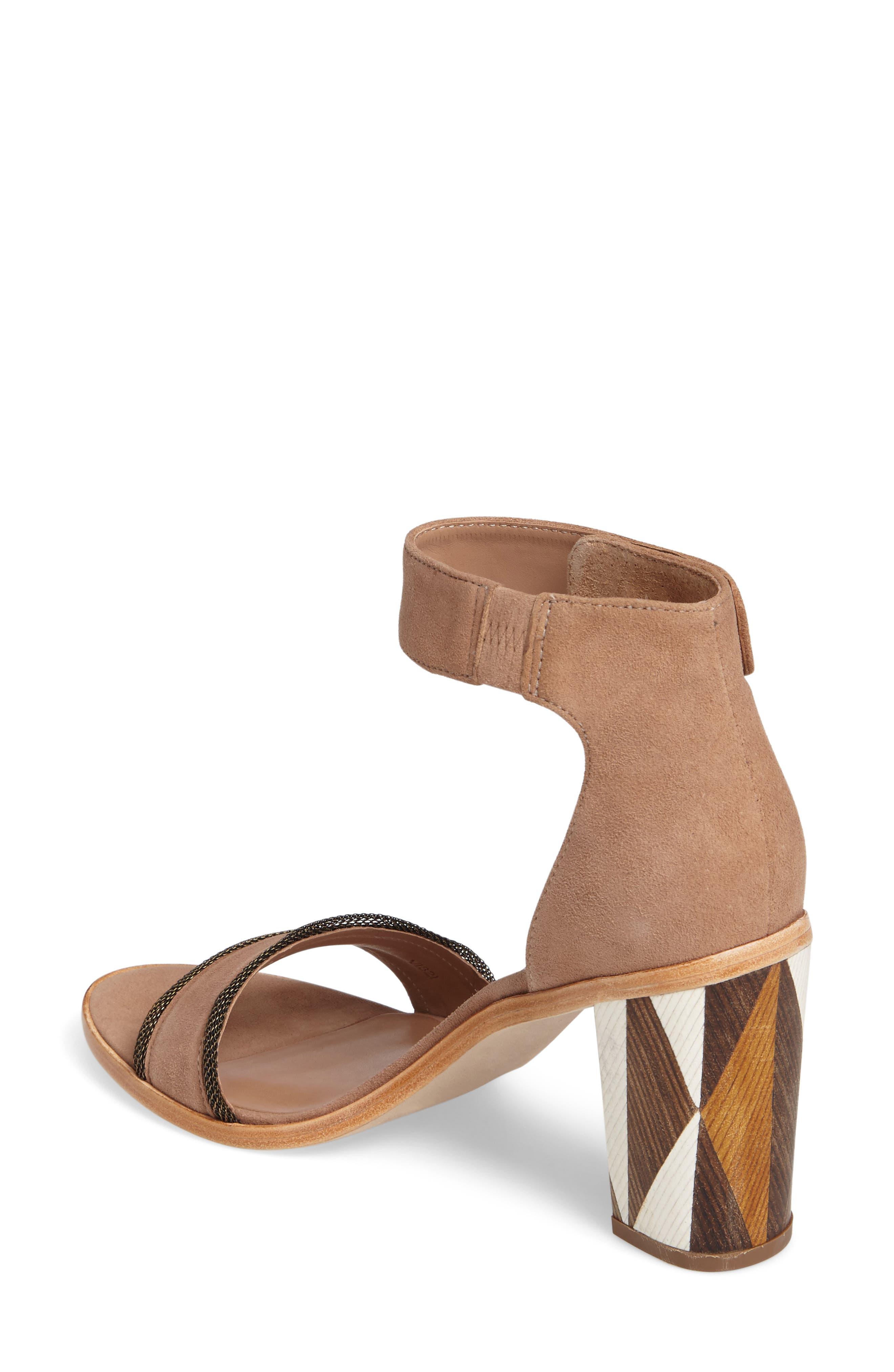 Bernardo Hayden Ankle Strap Sandal,                             Alternate thumbnail 2, color,                             Sand Suede