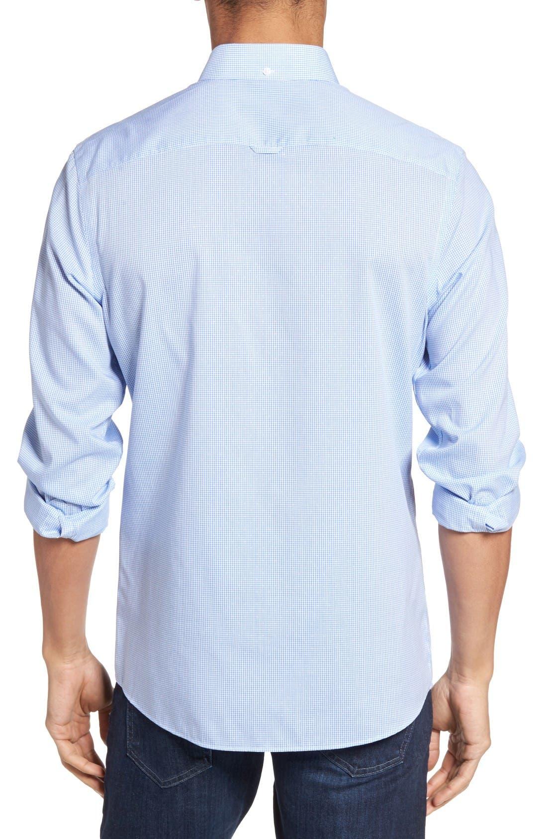 Alternate Image 2  - Nordstrom Men's Shop Trim Fit Non-Iron Dobby Check Sport Shirt (Regular & Tall)