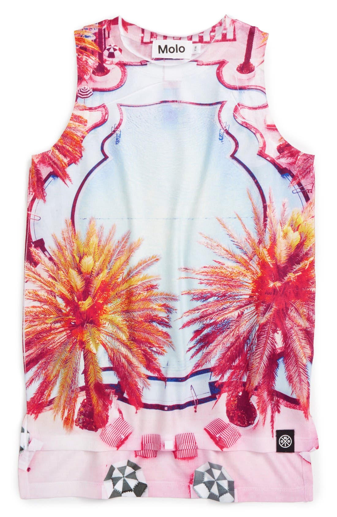 Alternate Image 1 Selected - Molo Ro Graphic Tunic Tank (Little Girls & Big Girls)