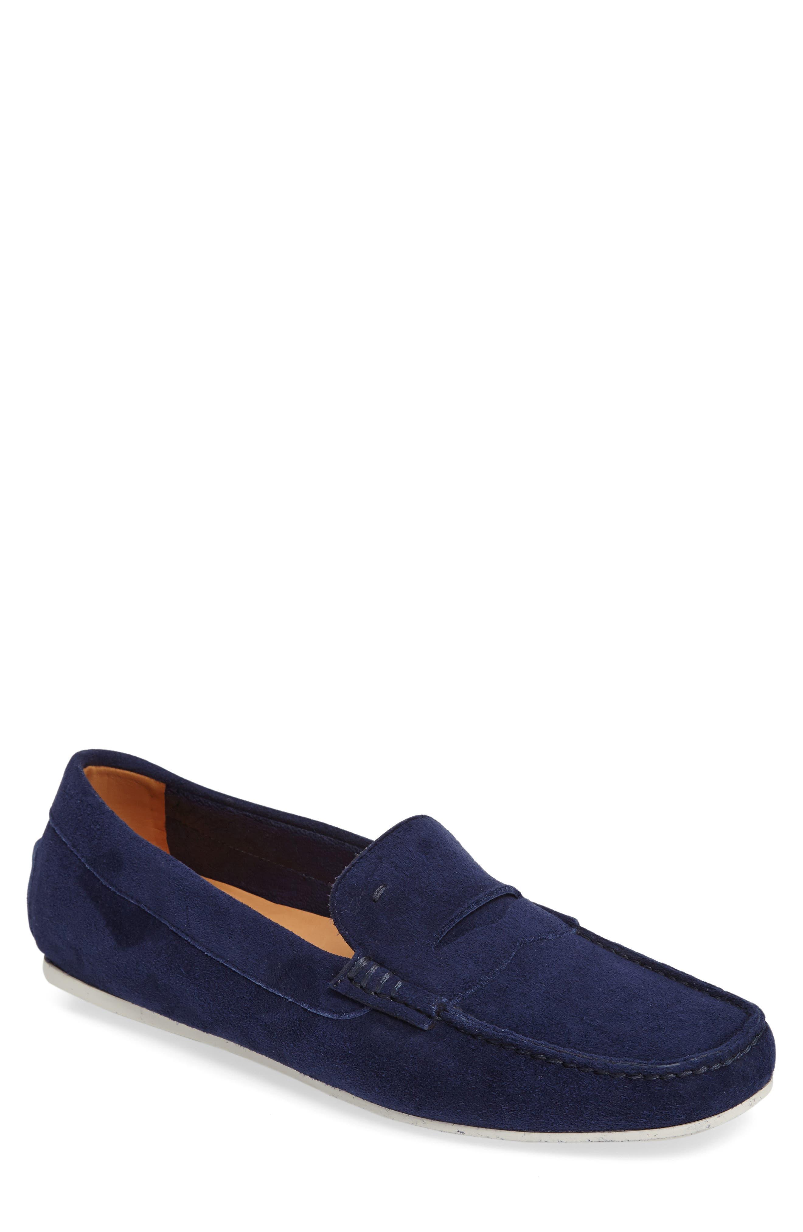 'Tanton' Driving Shoe,                             Main thumbnail 1, color,                             Blue Suede