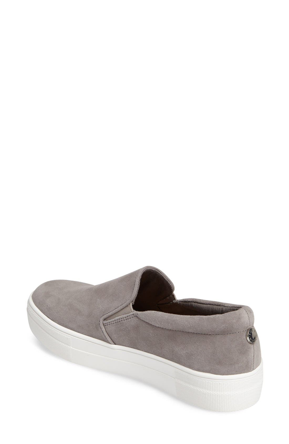 Gills Platform Slip-On Sneaker,                             Alternate thumbnail 2, color,                             Grey Suede