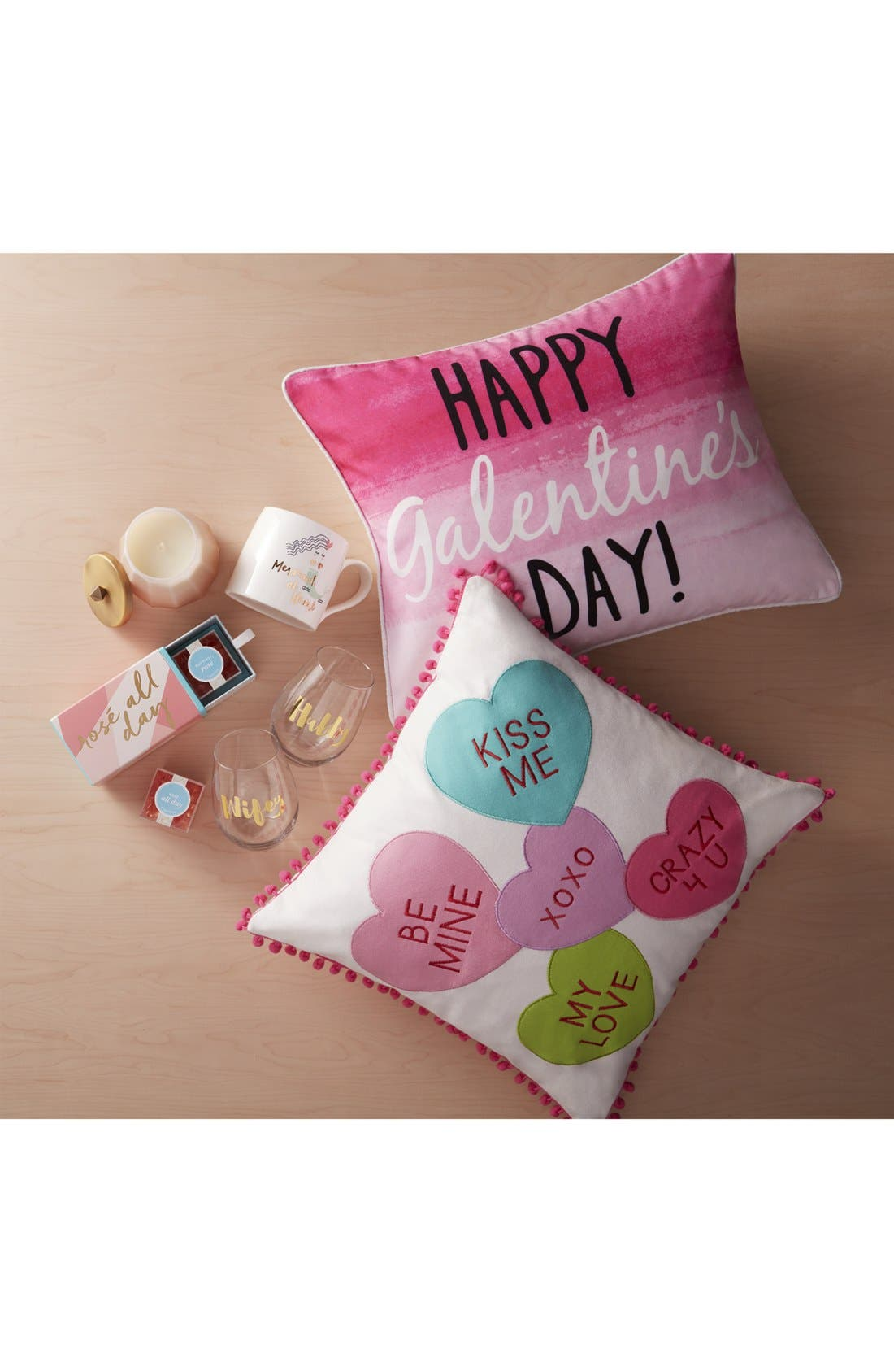 Happy Galentine's Day Pillow,                             Alternate thumbnail 4, color,