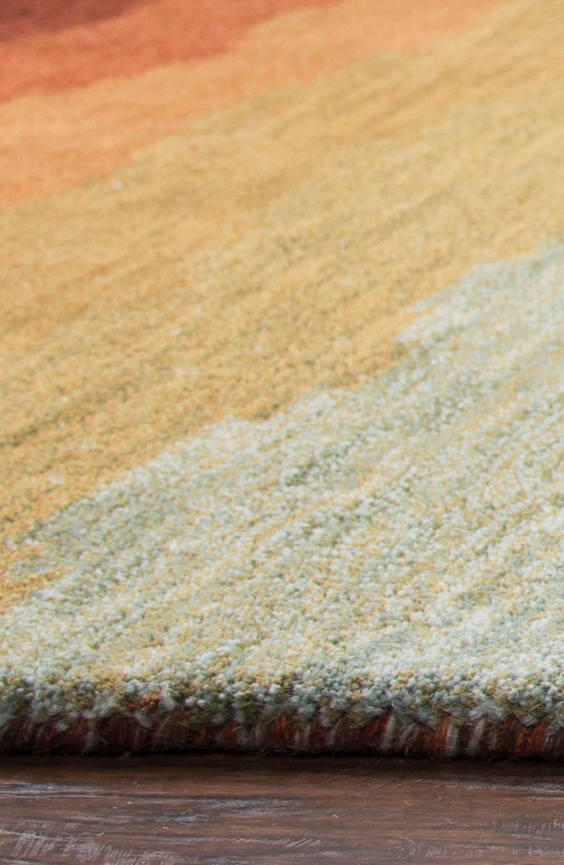 Desert Oasis Hand Tufted Wool Area Rug,                             Alternate thumbnail 4, color,                             Rust