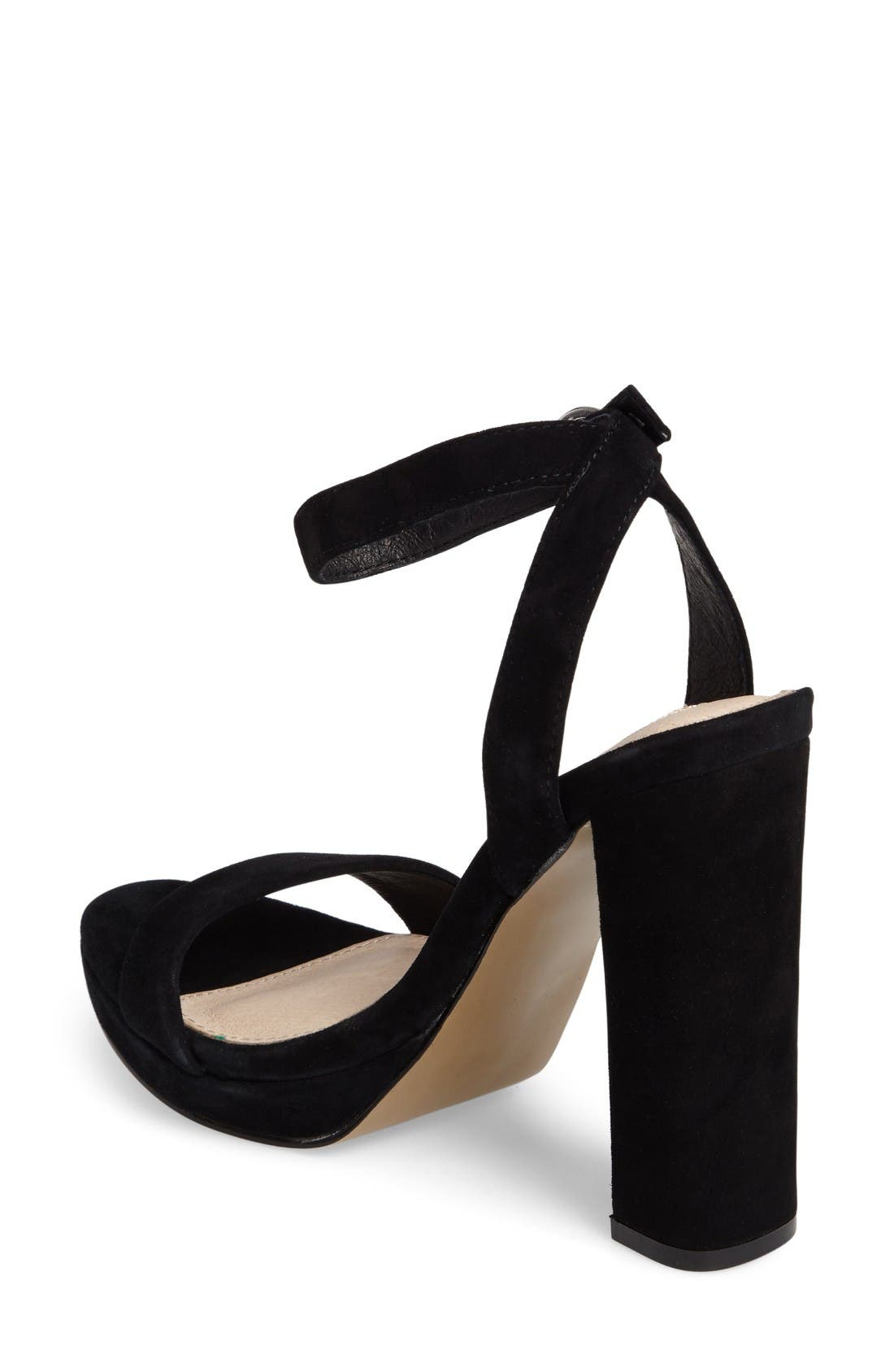 Addon Strappy Sandal,                             Alternate thumbnail 2, color,                             Black Suede