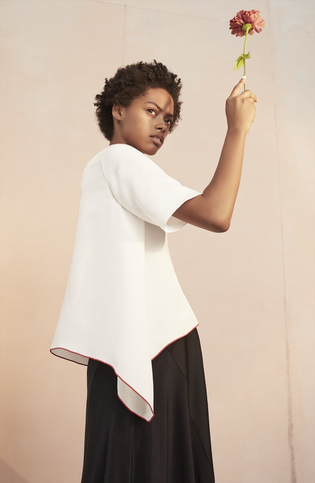 Alternate Image 8  - Colovos Asymmetrical Silk Tee