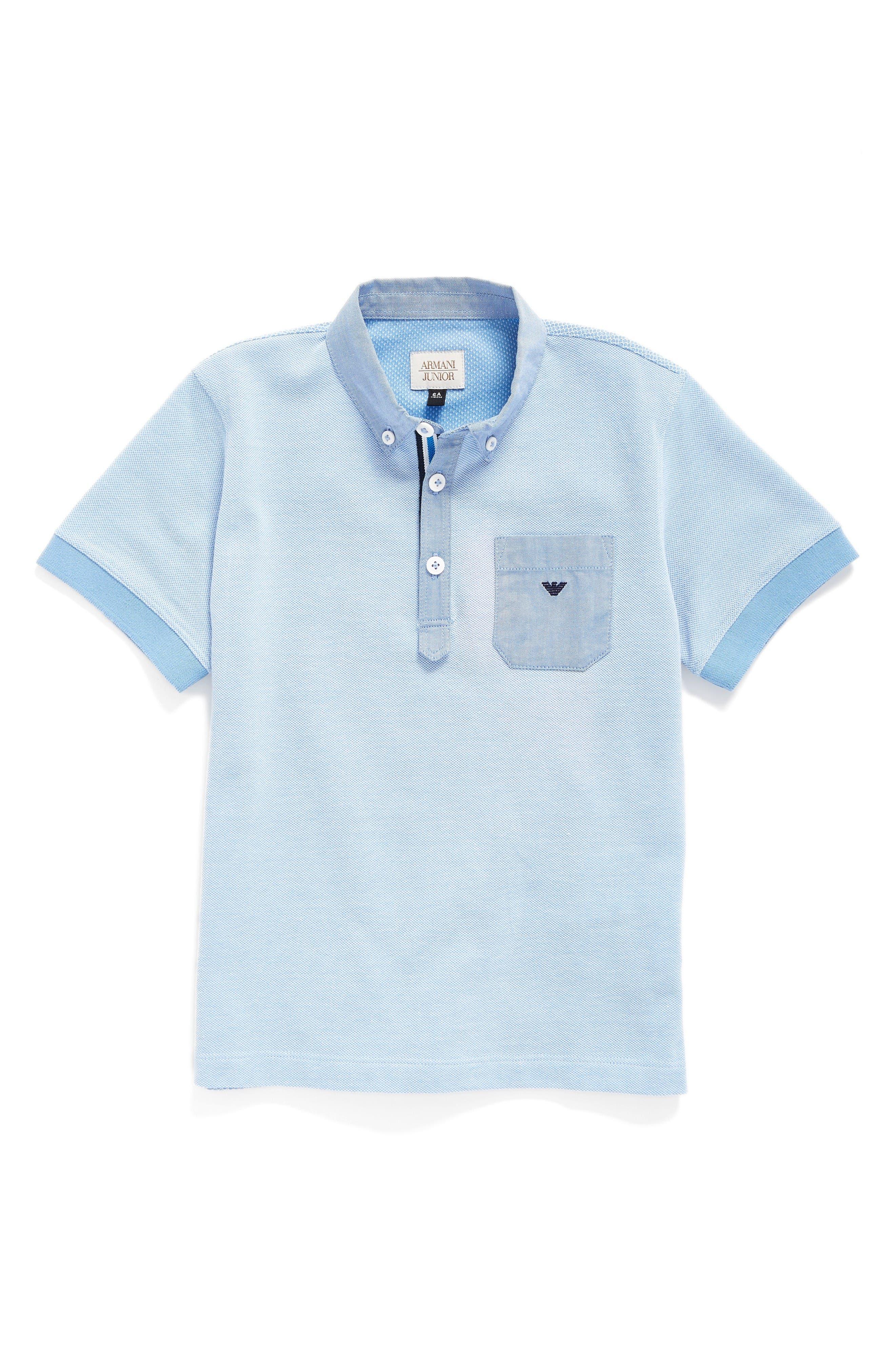 Piqué Polo,                         Main,                         color, Turquoise/ Aqua