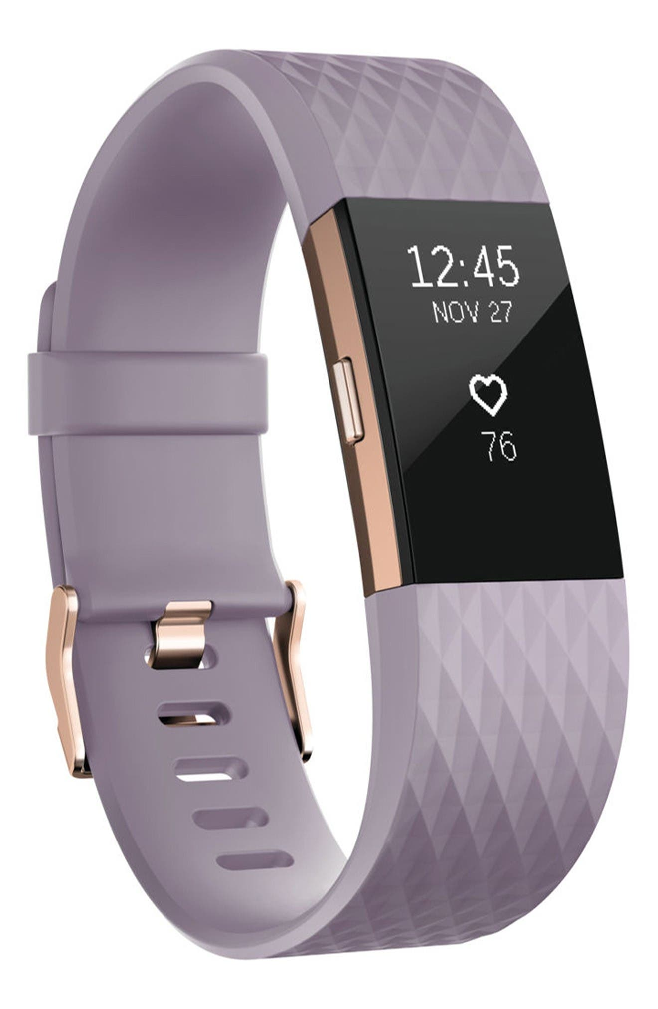 Charge 2 Special Edition Wireless Activity & Heart Rate Tracker,                             Main thumbnail 1, color,                             Lavender