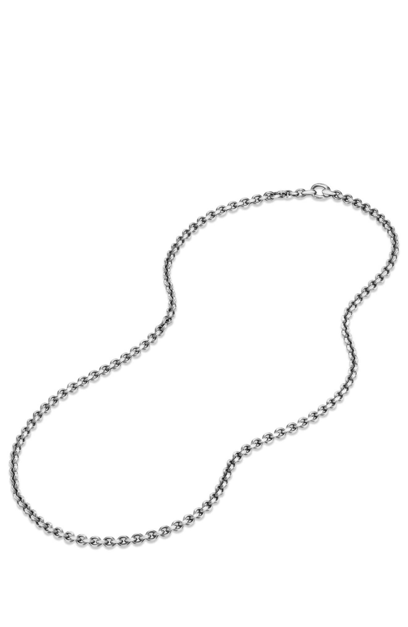 Knife Edge Chain Necklace,                             Alternate thumbnail 2, color,                             Silver