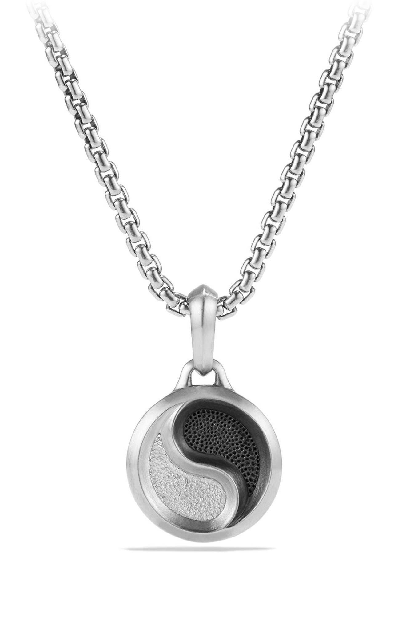Amulets Yin Yang Pendant,                         Main,                         color, Silver