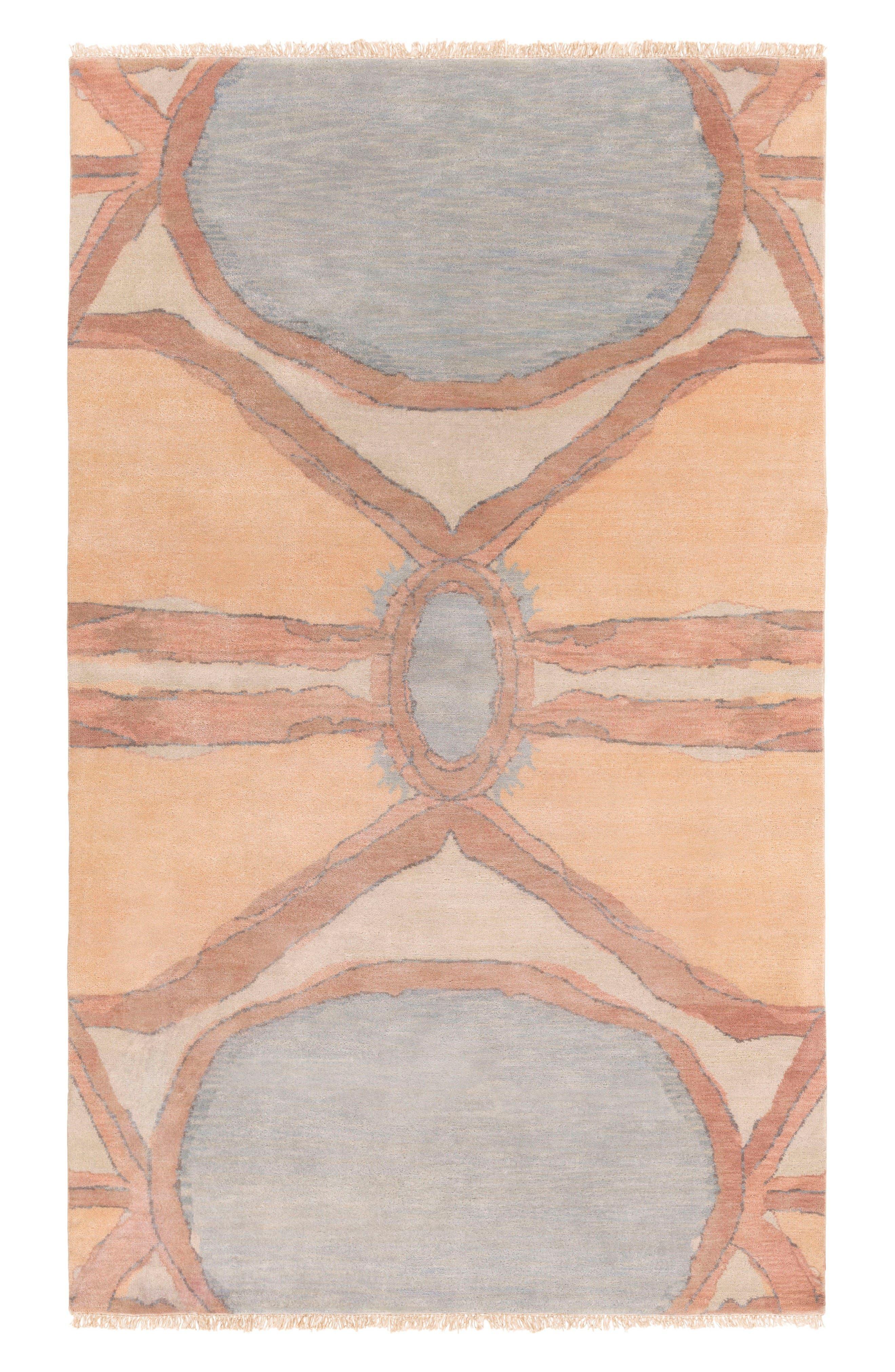 Alternate Image 1 Selected - Surya Home Oval Abstract Wool Rug