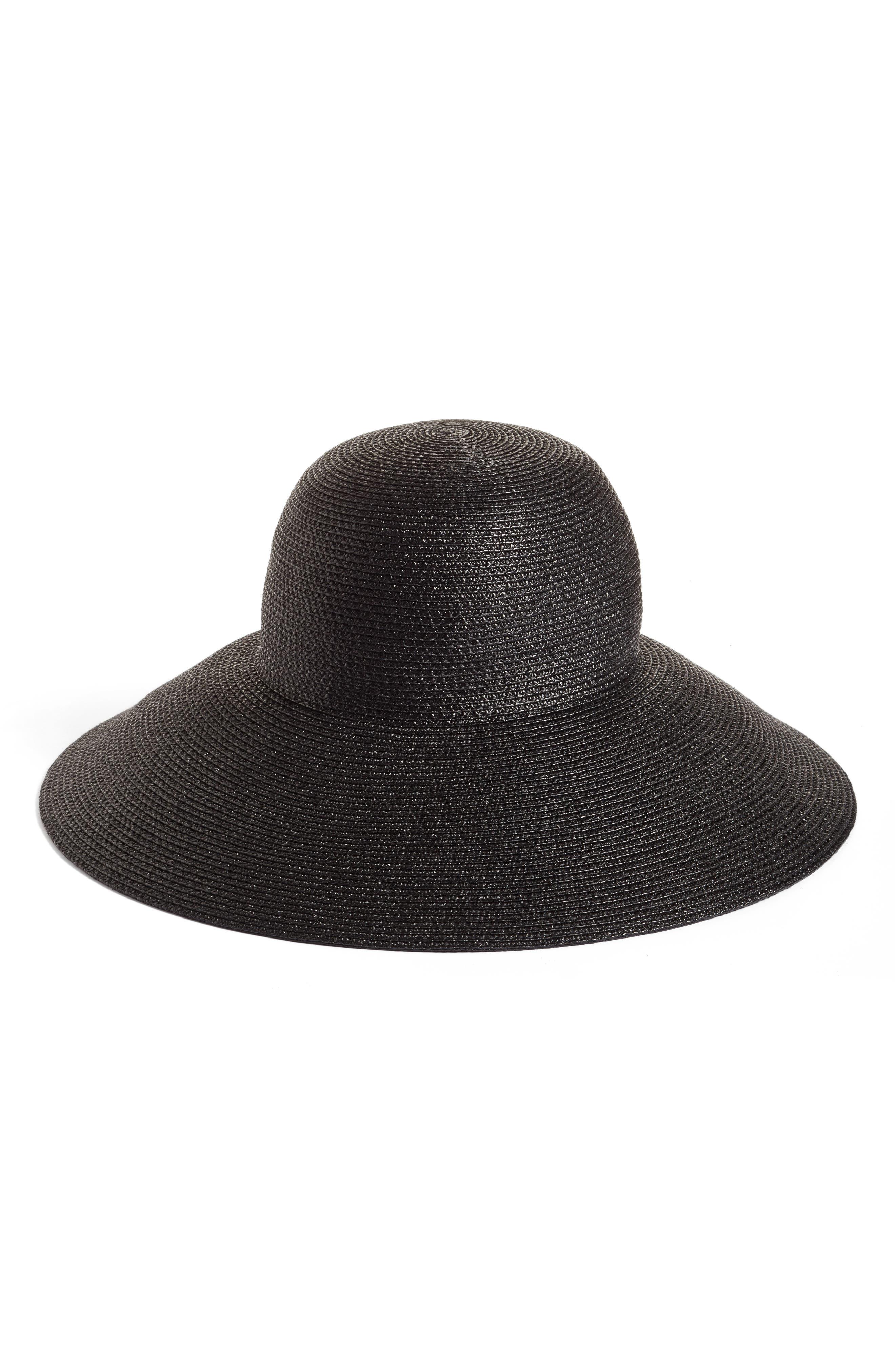 Bella Squishee<sup>®</sup> Sun Hat,                         Main,                         color, Black
