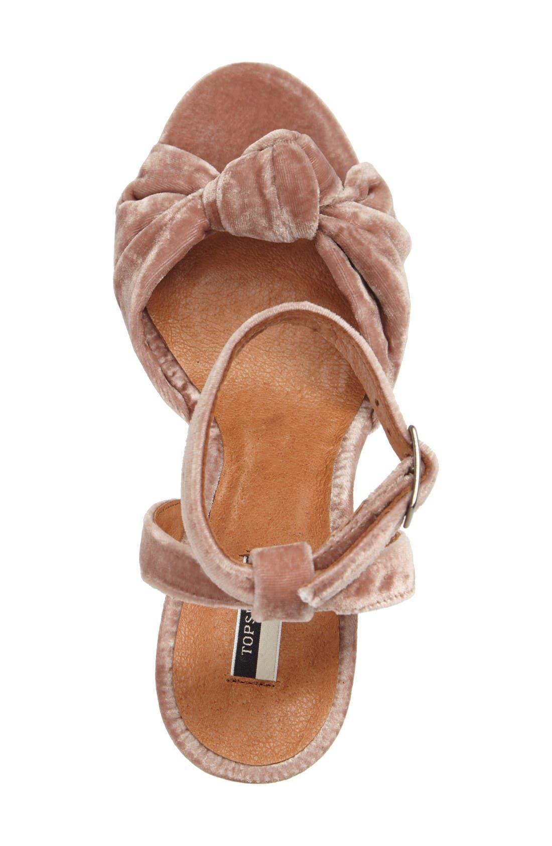 Alternate Image 3  - Topshop Rocksy Ankle Strap Sandal (Women)