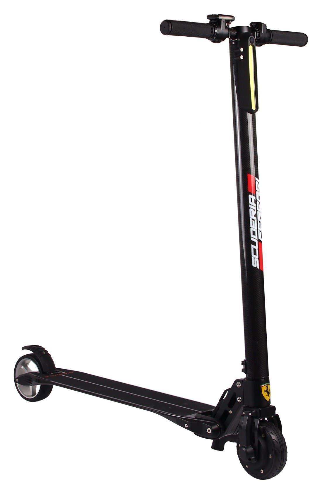Carbon Fiber Electric Scooter,                         Main,                         color, Ferrari Black