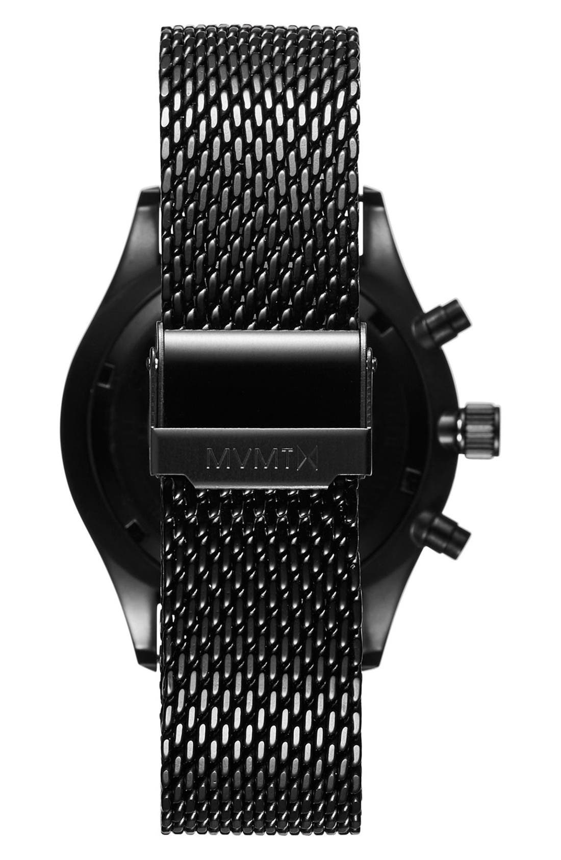 Voyager Chronograph Mesh Bracelet Watch, 42mm,                             Alternate thumbnail 2, color,                             Black/ Slate