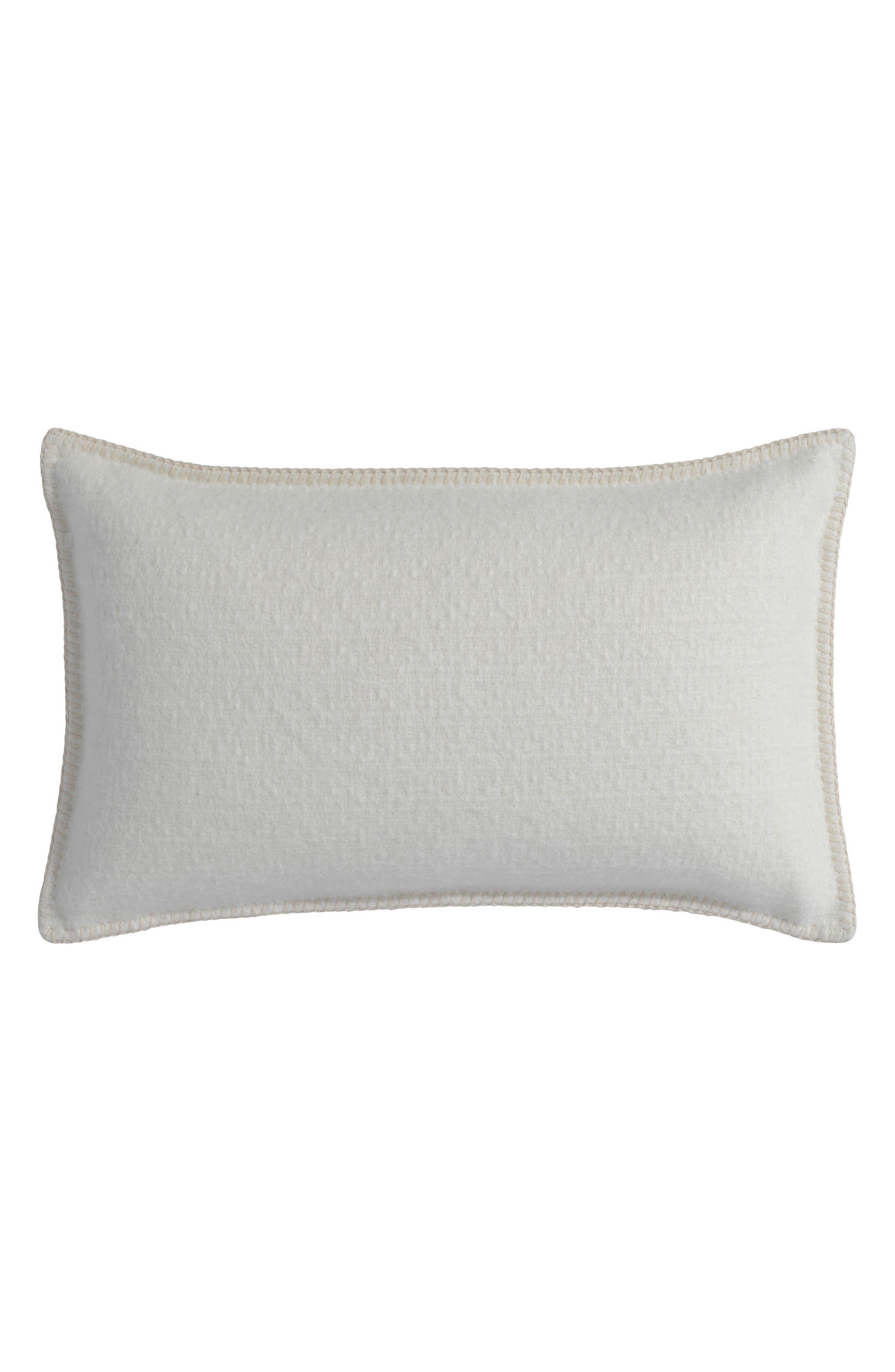 Basketweave Alpaca Accent Pillow,                         Main,                         color, Ivory