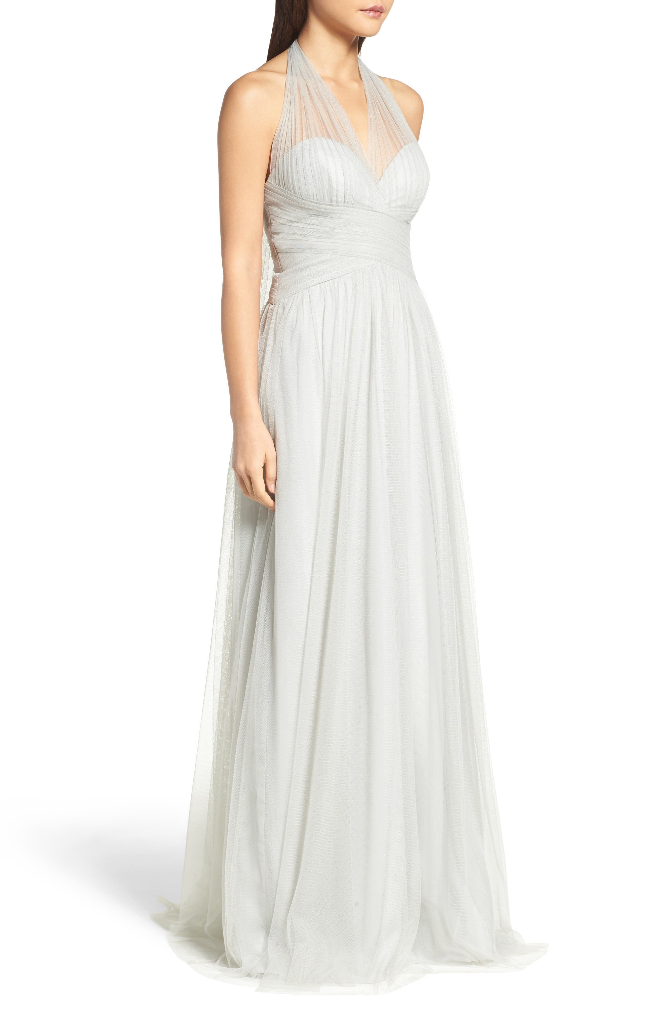 Alternate Image 3  - WTOO Halter Tulle A-Line Gown