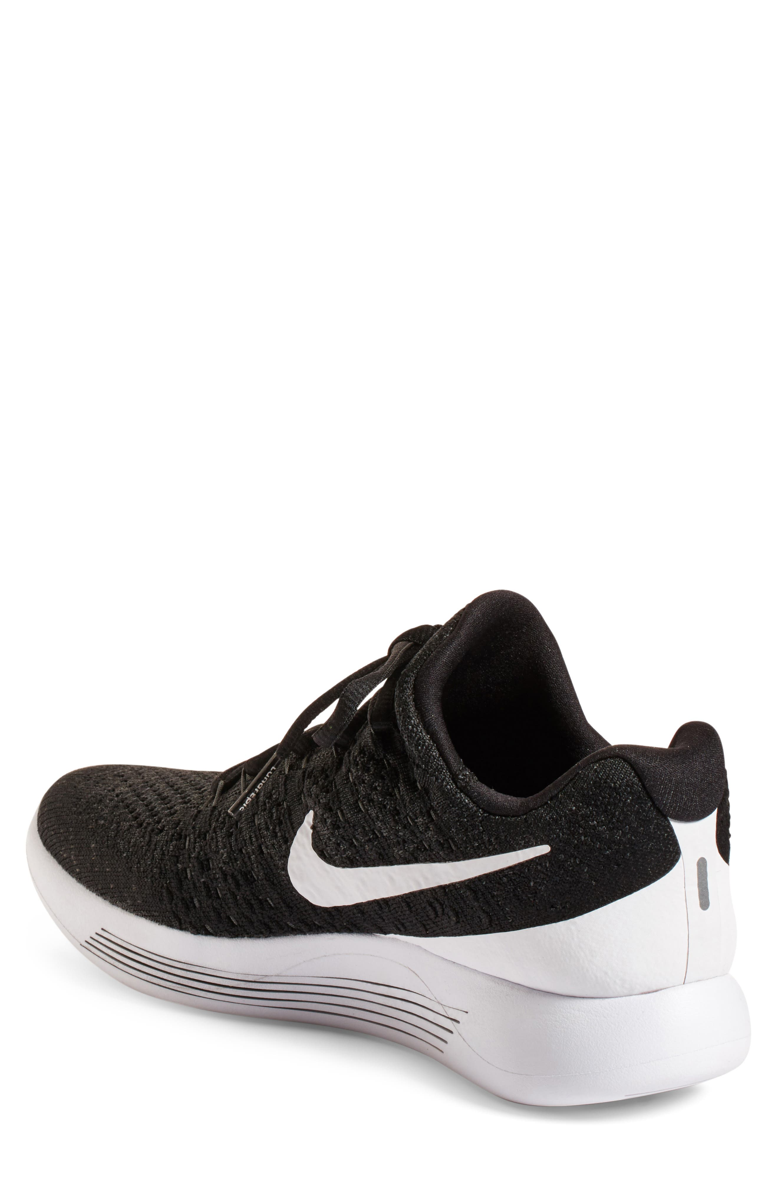 Flyknit 2 LunarEpic Running Shoe,                             Alternate thumbnail 2, color,                             Black/ White/ Anthracite