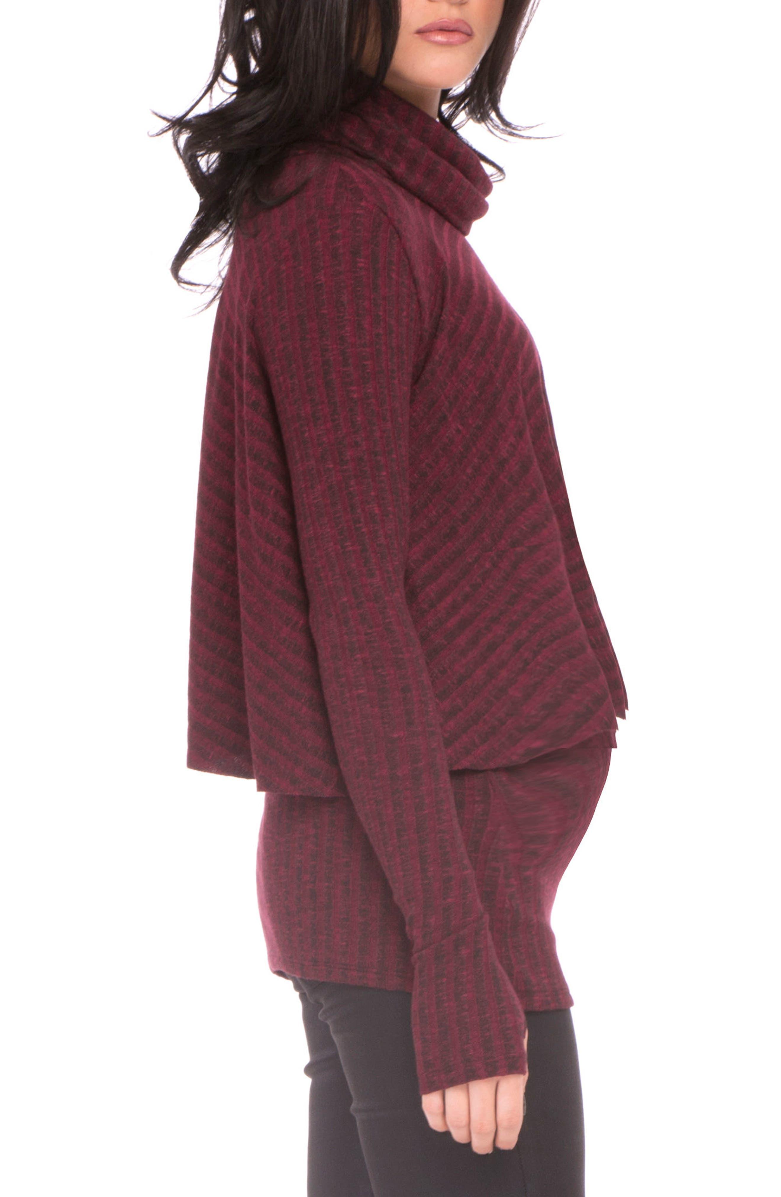 Alternate Image 3  - Olian Kim Popver Maternity/Nursing Tunic Top